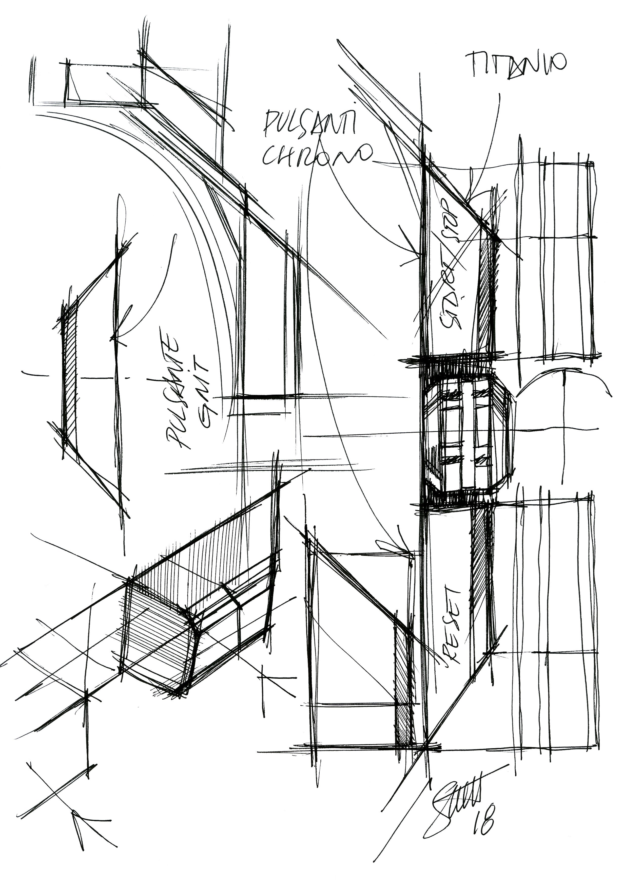 Bulari Octo Finissimo sketches in The Balance of Symmetry and Asymmetry in Dial Design for A Collected Man London
