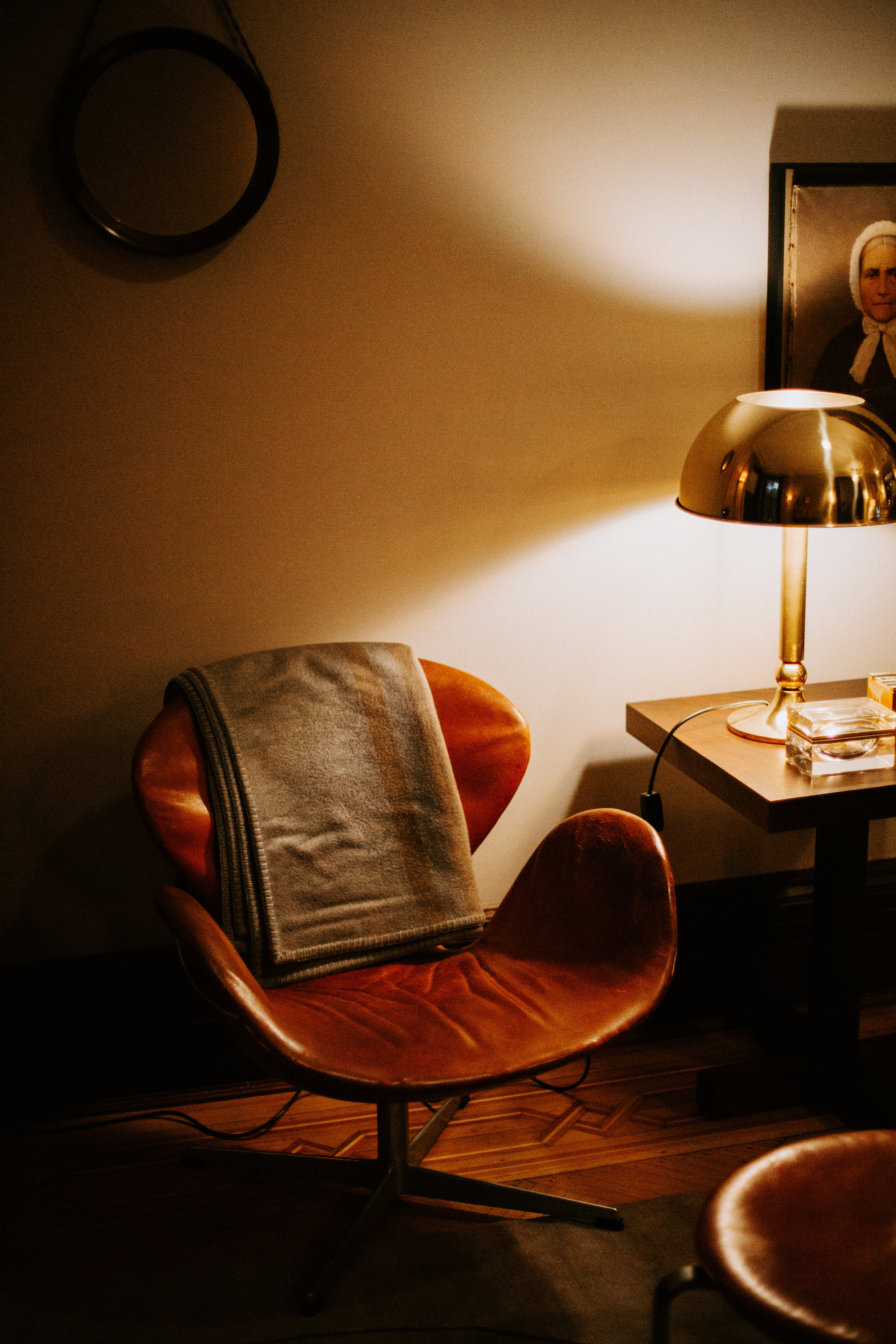 Chris Mitchell of Conde Nast and his Chris Arne Jacobsen Swan Chair interview A Collected Man London