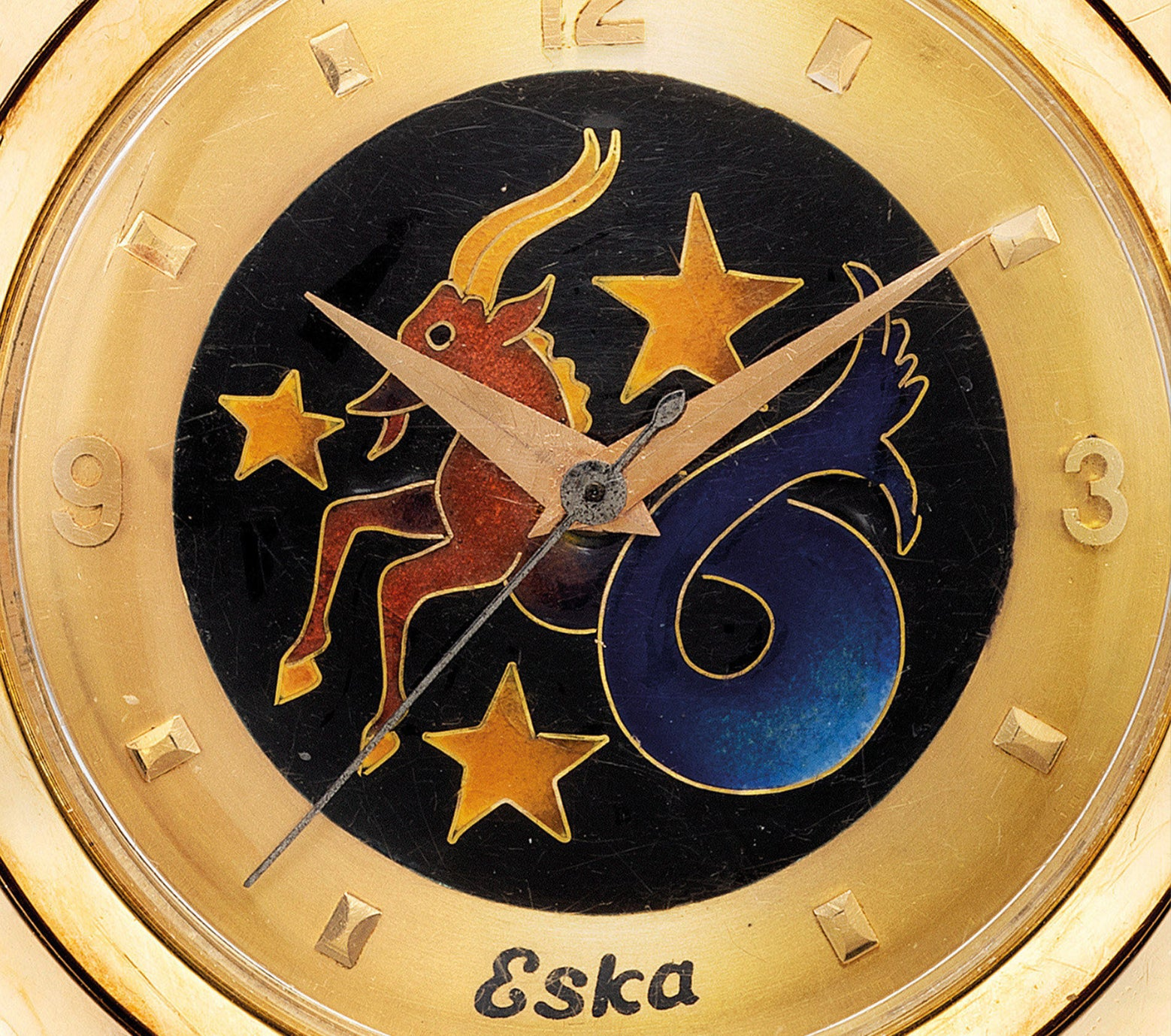 Eska cloisonné dial in The Art of Enamel Dials for A Collected Man London
