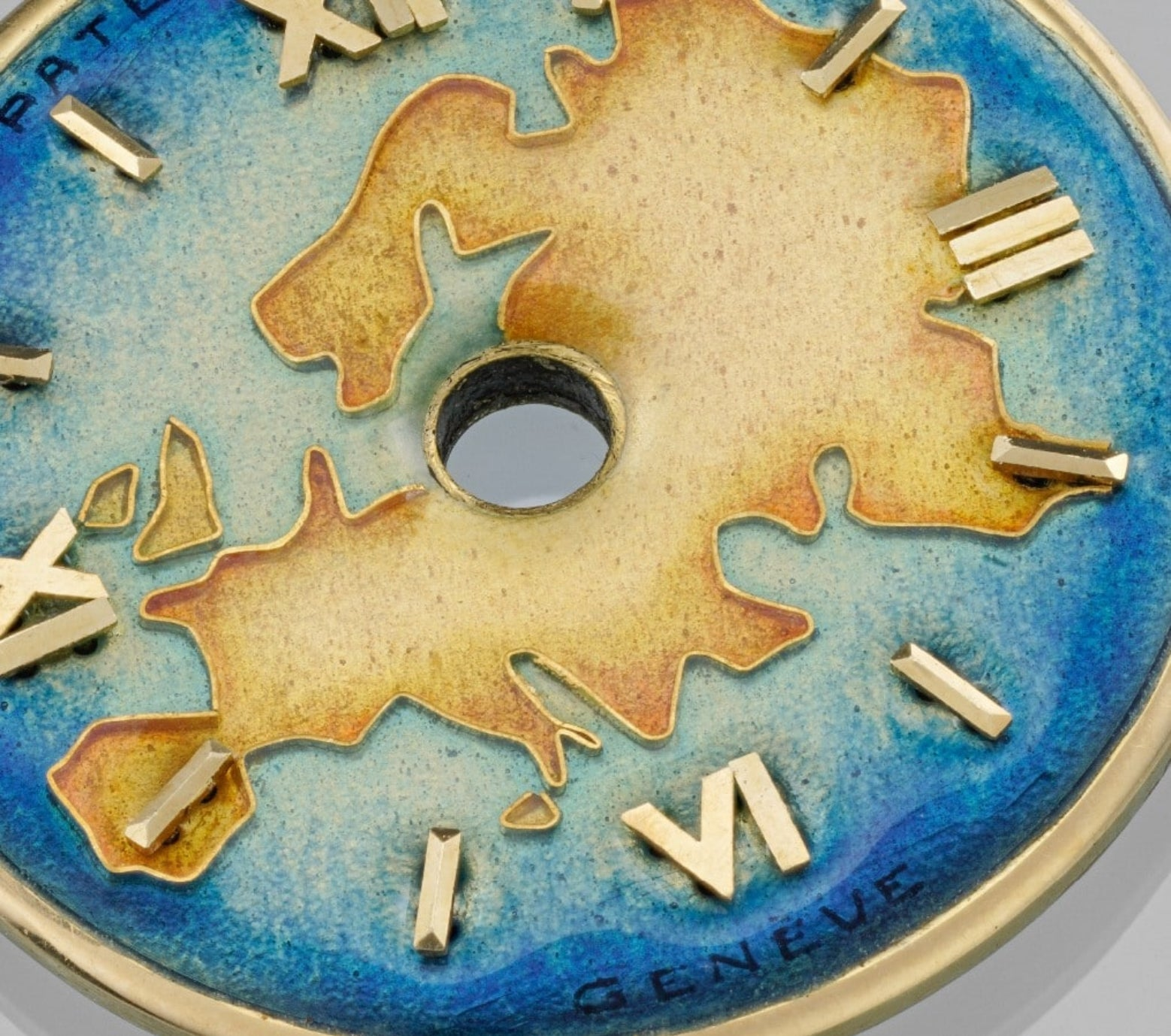 Patek Philippe dial in The Art of Enamel Dials for A Collected Man London