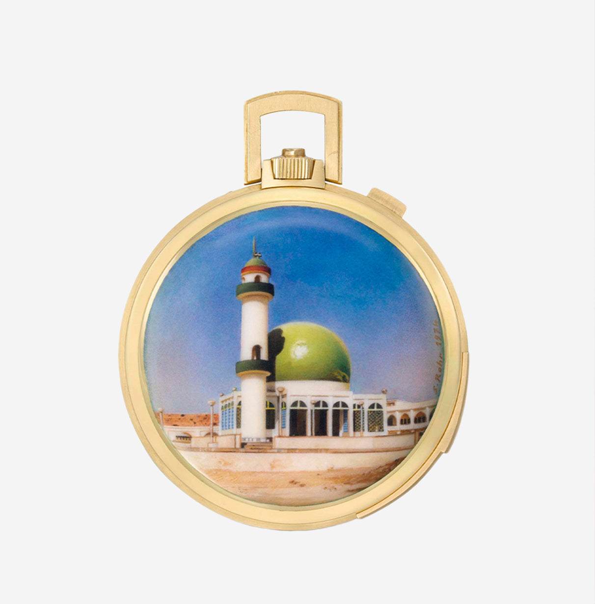 Pocket watch enamelled by Suzanne Rohr in The Art of Enamel Dials for A Collected Man London