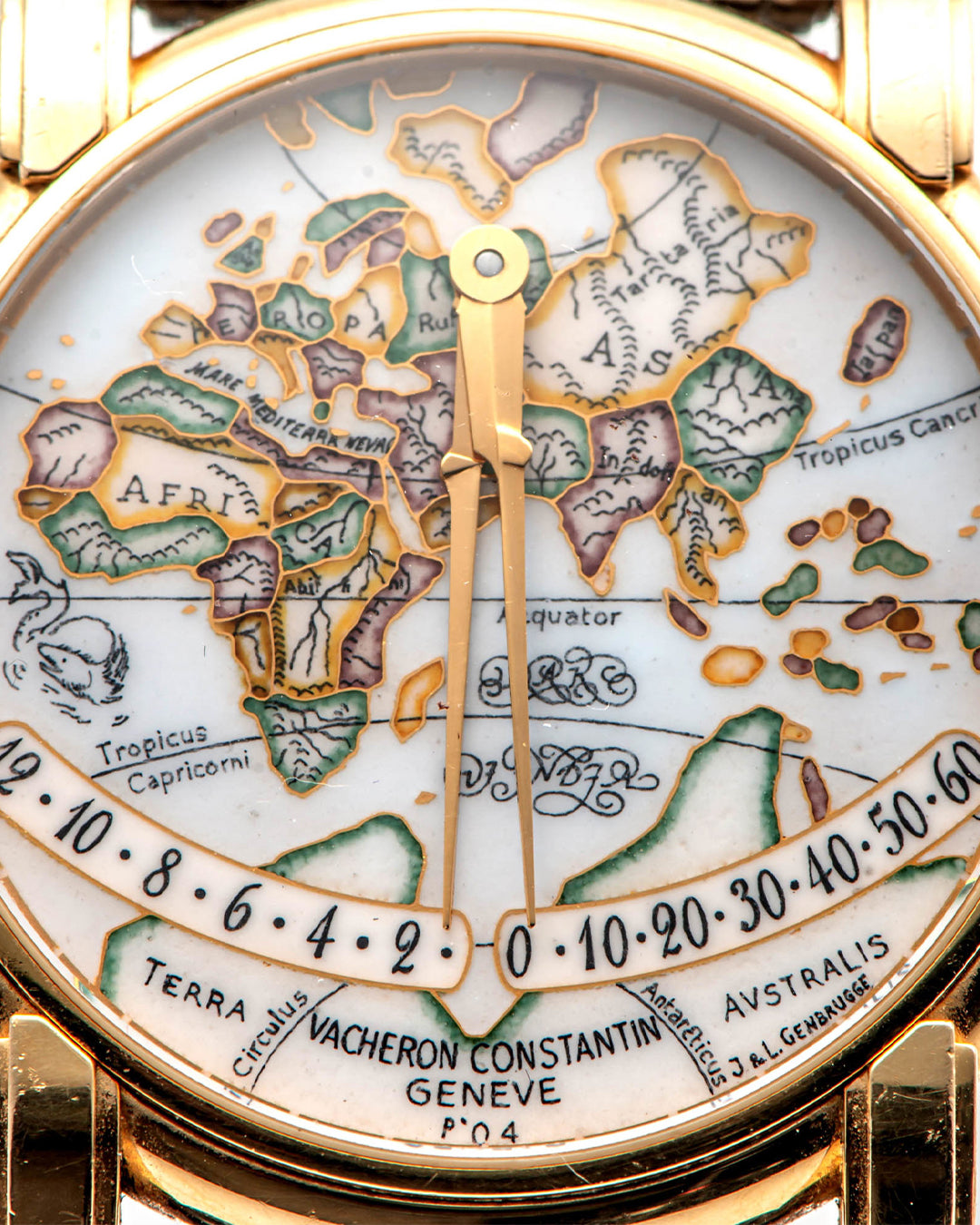 Jean Genbrugge Mecator dial in The Art of Enamel Dials for A Collected Man London