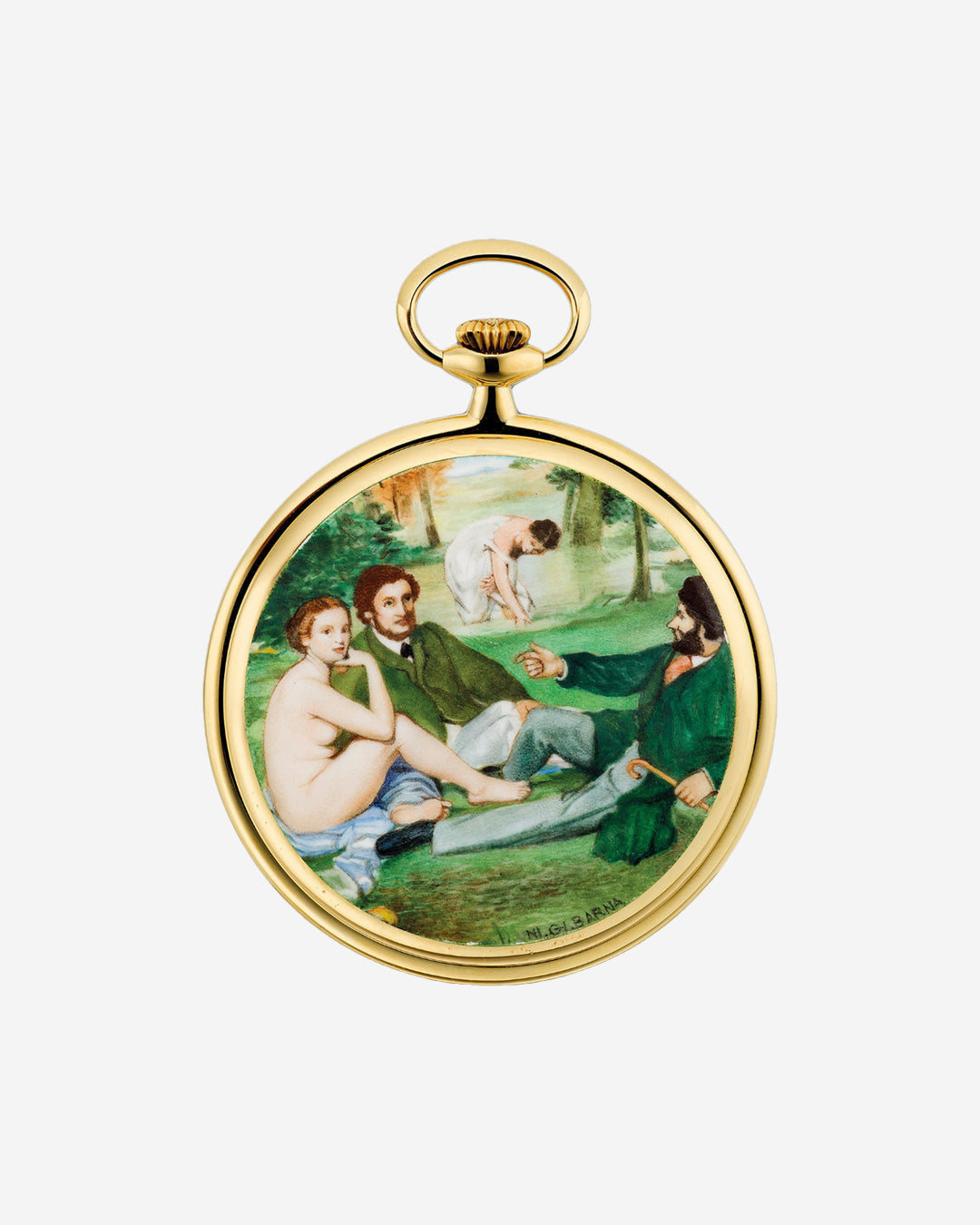 Audemars Piguet pocket watch with enamel miniature painting by Ni. Gi. Barnain The Art of Enamel Dials for A Collected Man London