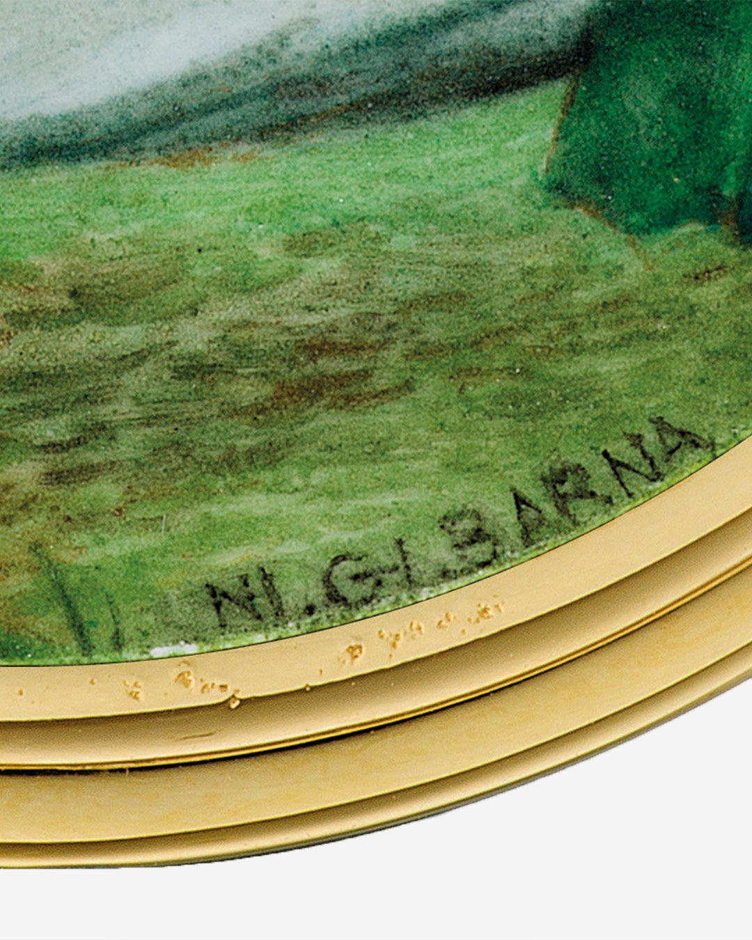 Macro on Ni. Gi. Barna signature in The Art of Enamel Dials for A Collected Man London