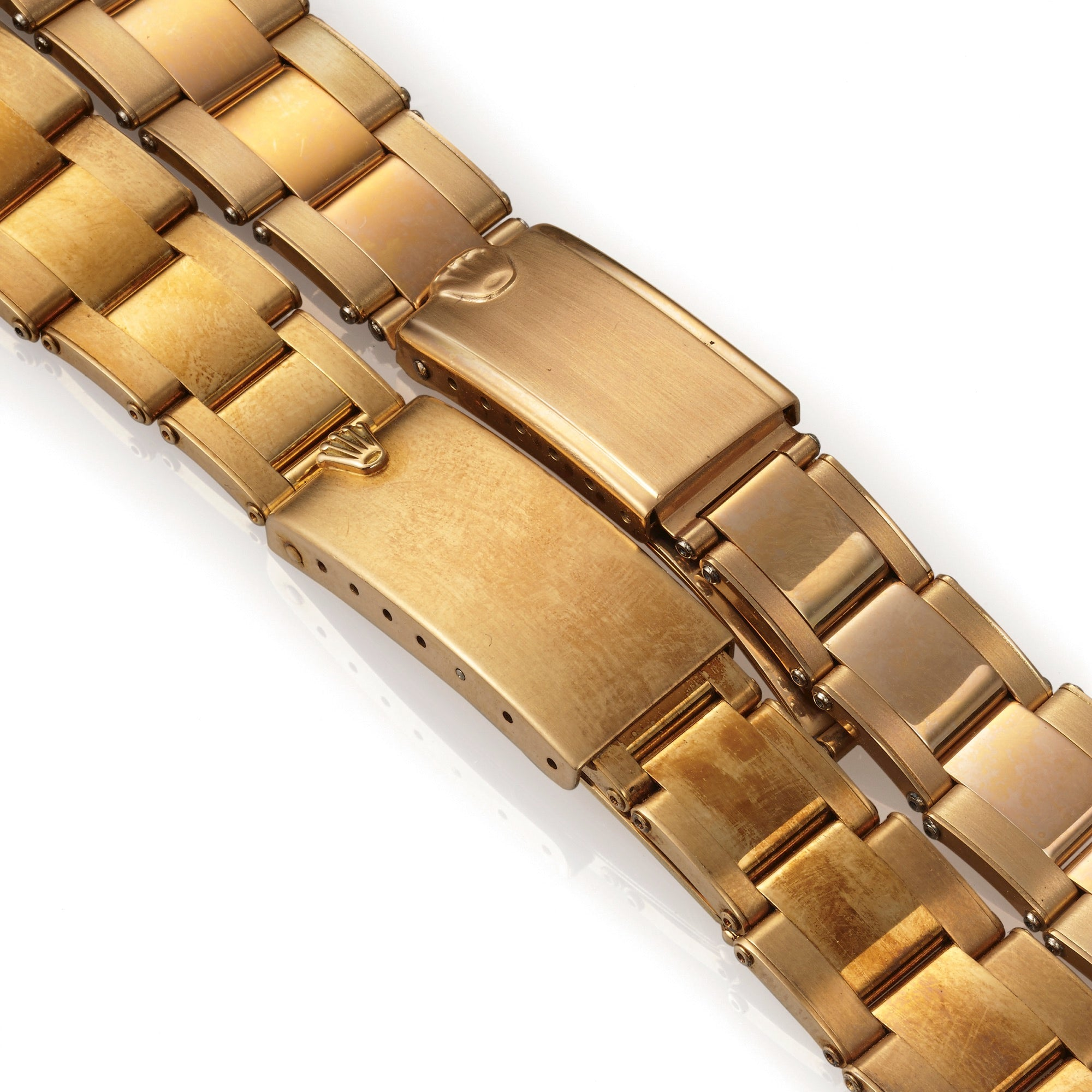 Gold Rolex Oyster bracelets new old stock for A Collected Man London