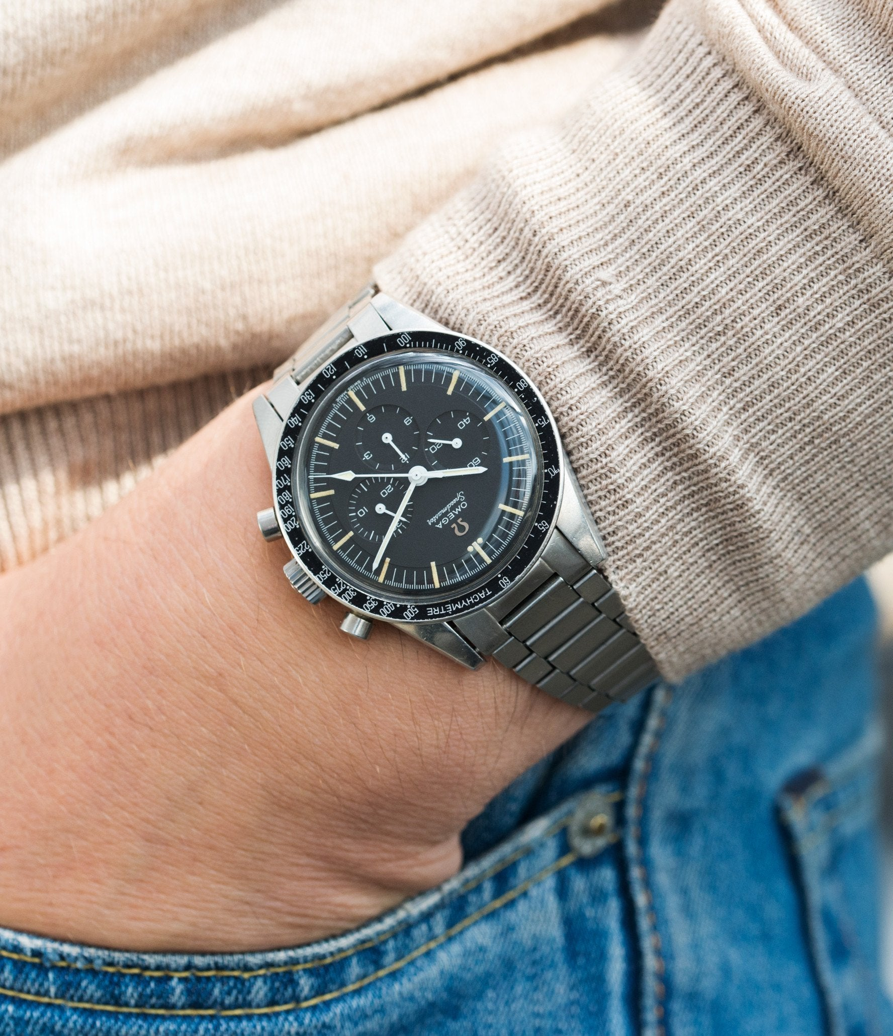 Omega Speedmaster Ed White on wrist In Some of the Mistakes we've Made in Buying Watches for A Collected Man London