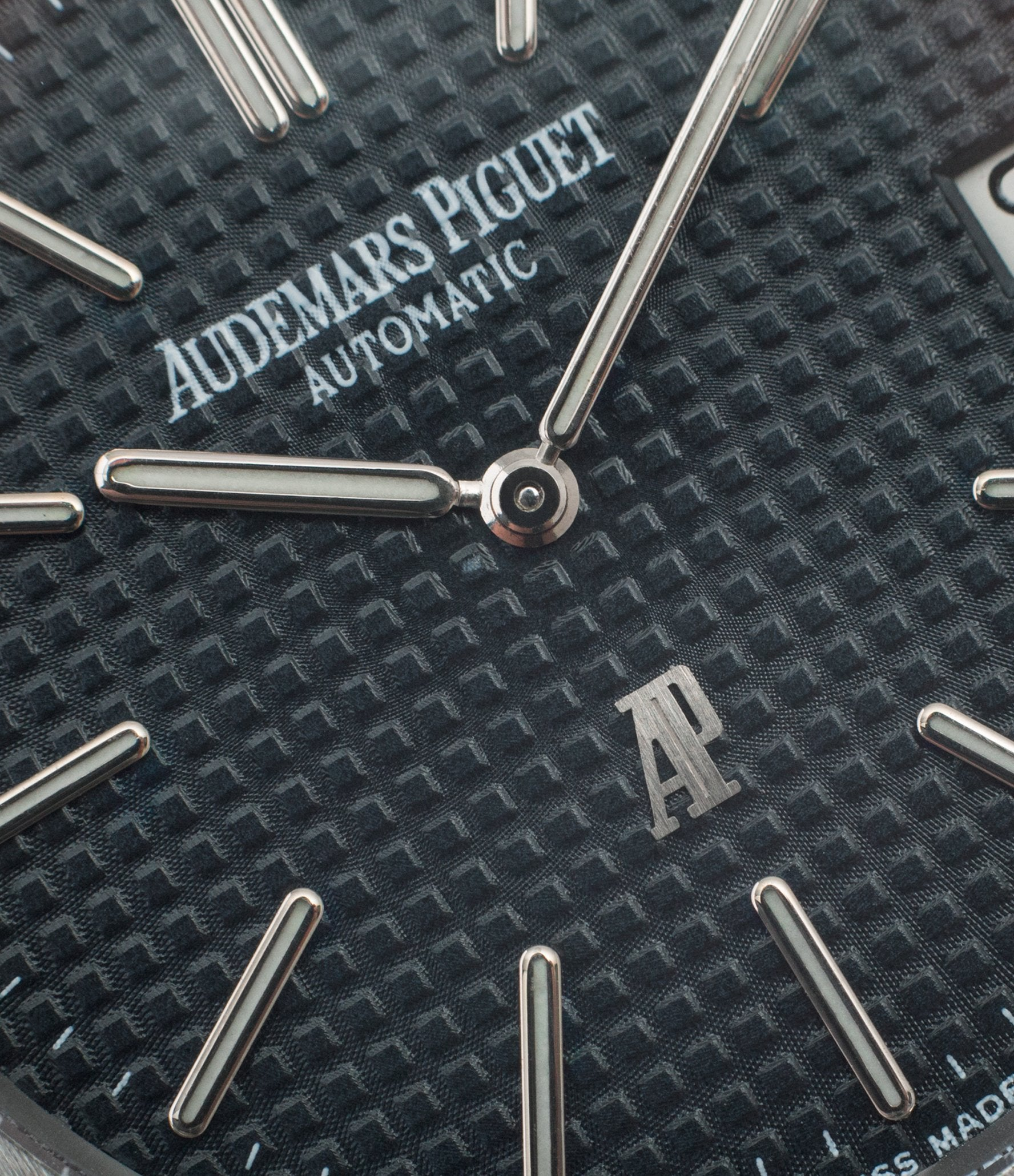 Audemars Piguet Royal Oak macro of dial  In Some of the Mistakes we've Made in Buying Watches for A Collected Man London