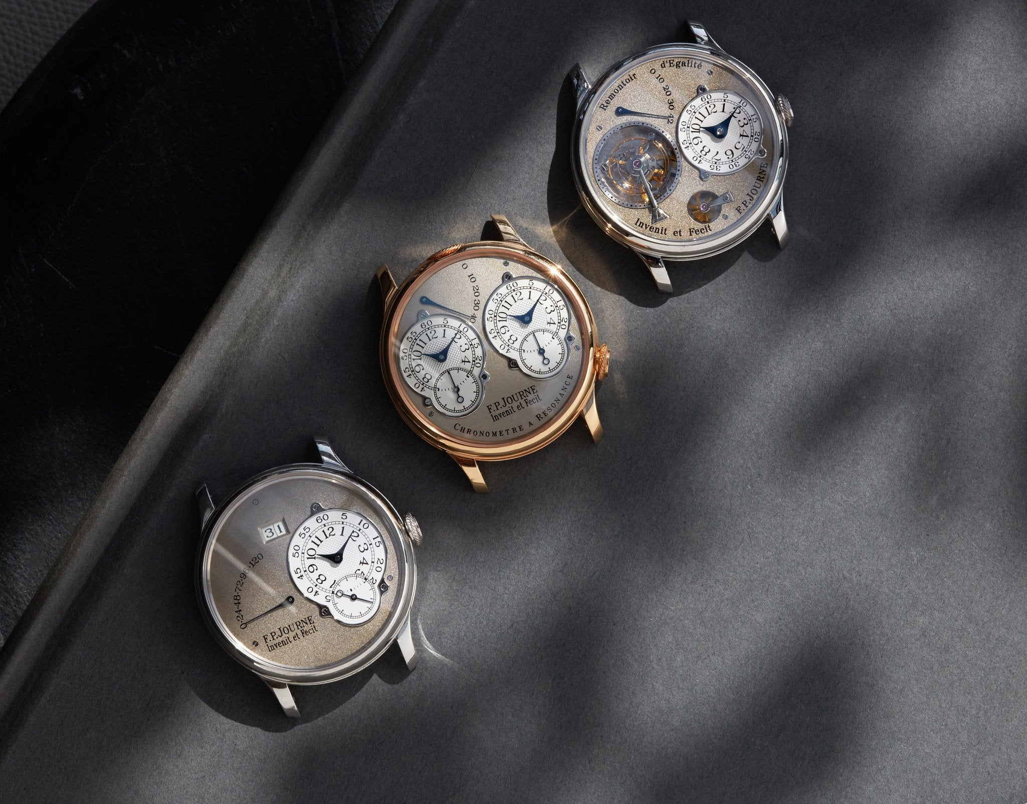François-Paul Journe three core models in The Rise of Neo-Vintage Watches for A Collected Man London