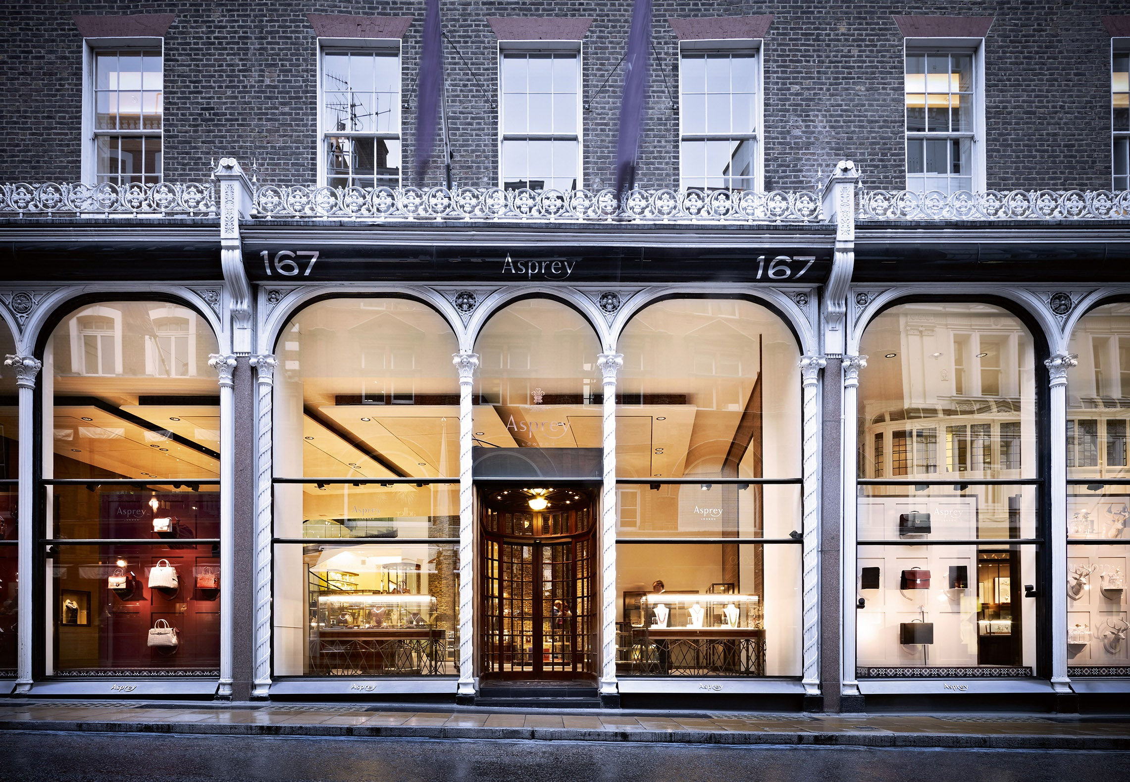 The Asprey London store at 167 New Bond Street for A Collected Man London