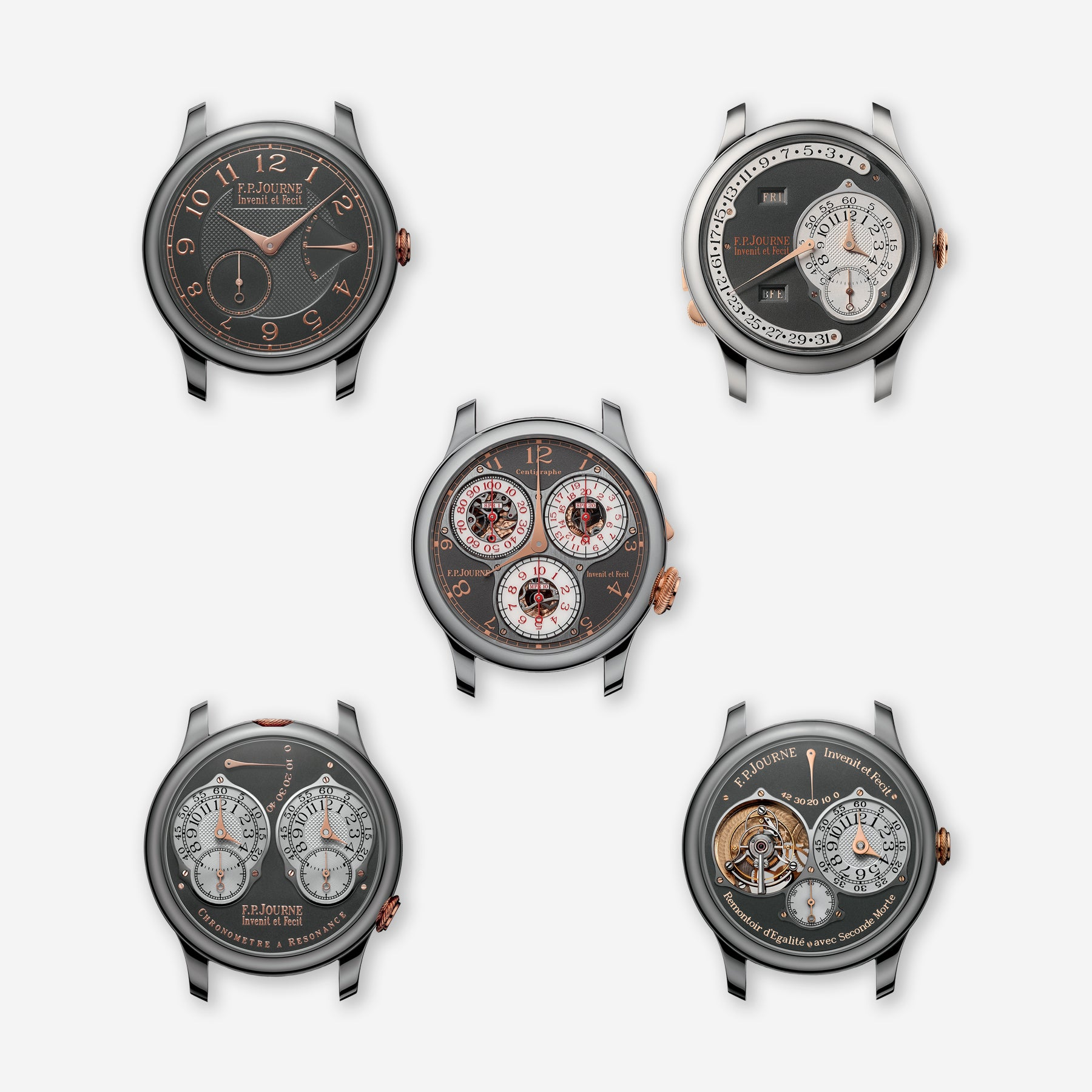 The full Tokyo set from F.P. Journe sold exclusively from the Tokyo boutique for A Collected Man London