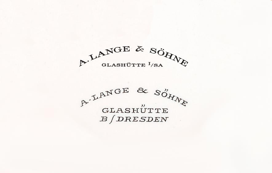 A Lange & Söhne original logo in Our Favourite Uses of Typography in Watches for A Collected Man London