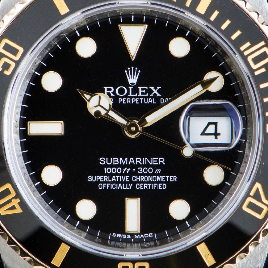 Rolex Submariner in Our Favourite Uses of Typography in Watches for A Collected Man London