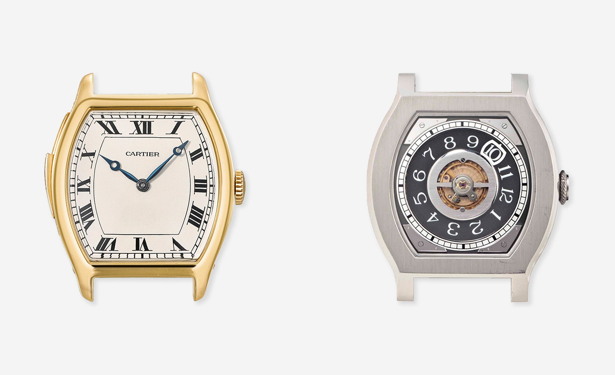 Cartier torue minutre repeater and F.P. Journe Vagabondage I in Three Watchmakers' Unfinished Watches for A Collected Man London