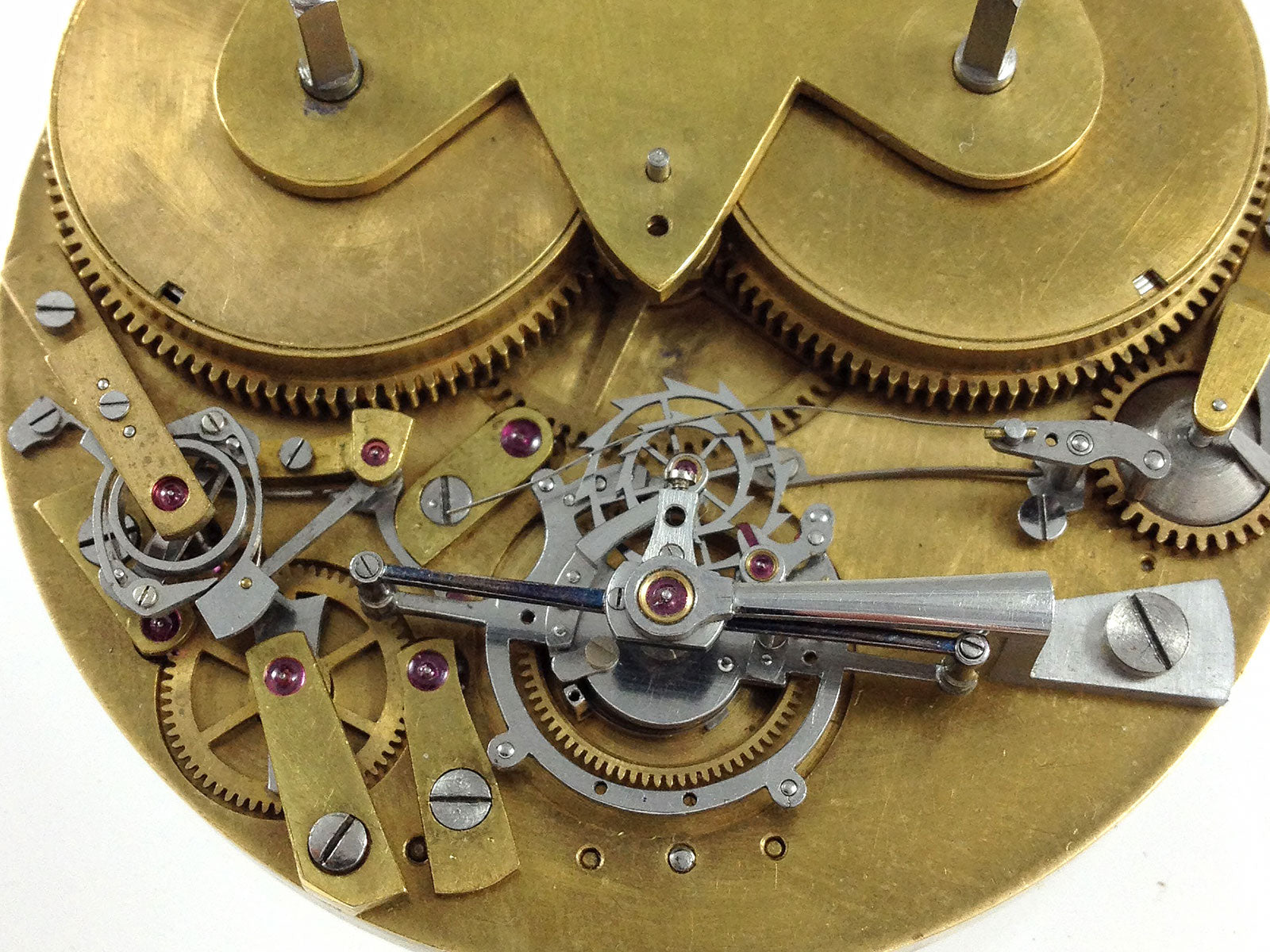 Macro on movement tourbillon in Three Watchmakers' Unfinished Watches for A Collected Man London