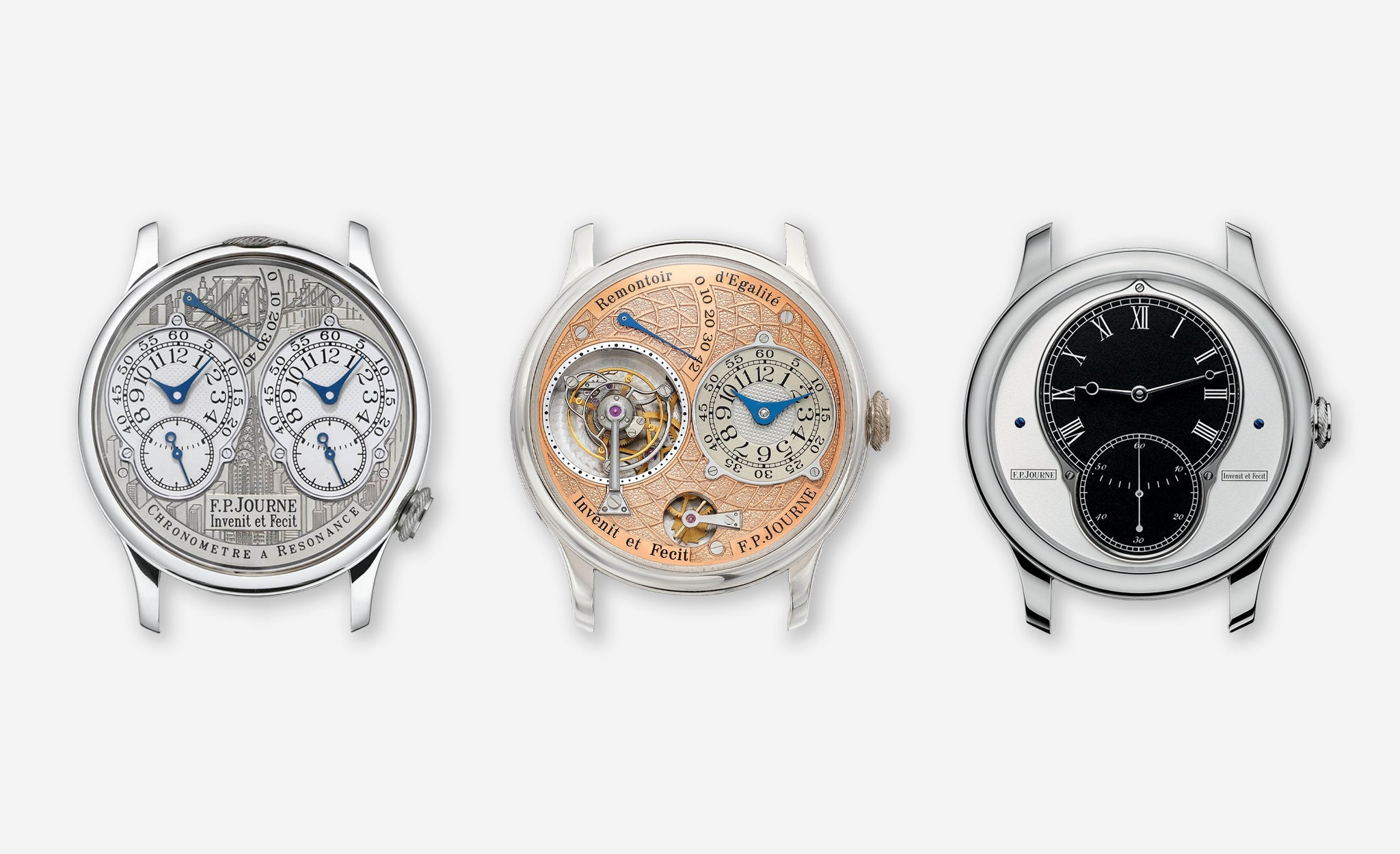 New York, labyrinth and T10 special editions produced by F.P. Journe