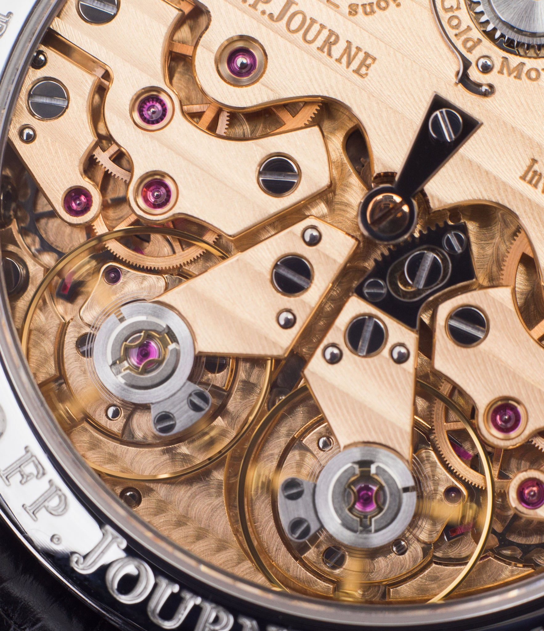 Rose gold F.P. Journe Resonance movement from the steel set