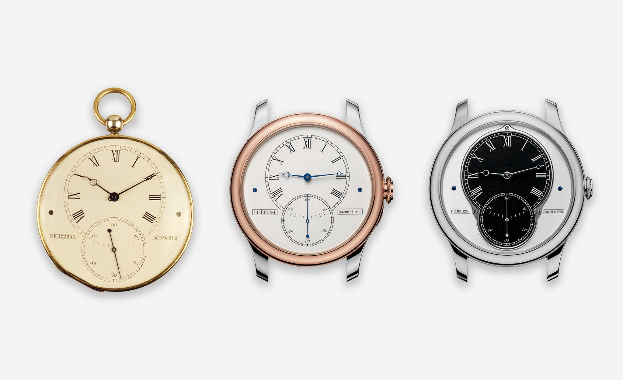 F.P. Journe's first pocket watch and the T30 and T10 created to mark its anniversary