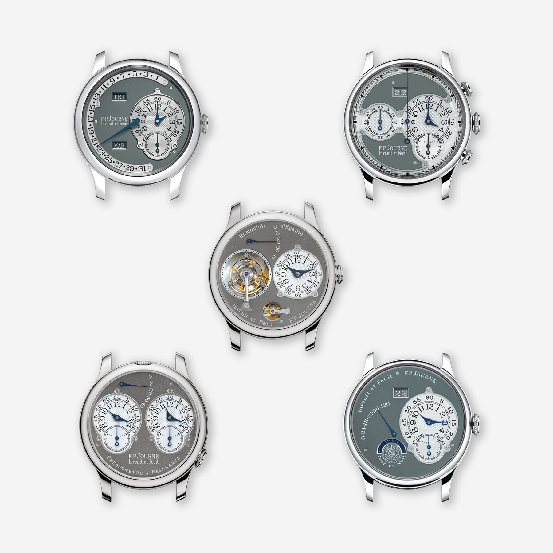 The entire Ruthenium collection that F.P. Journe produced