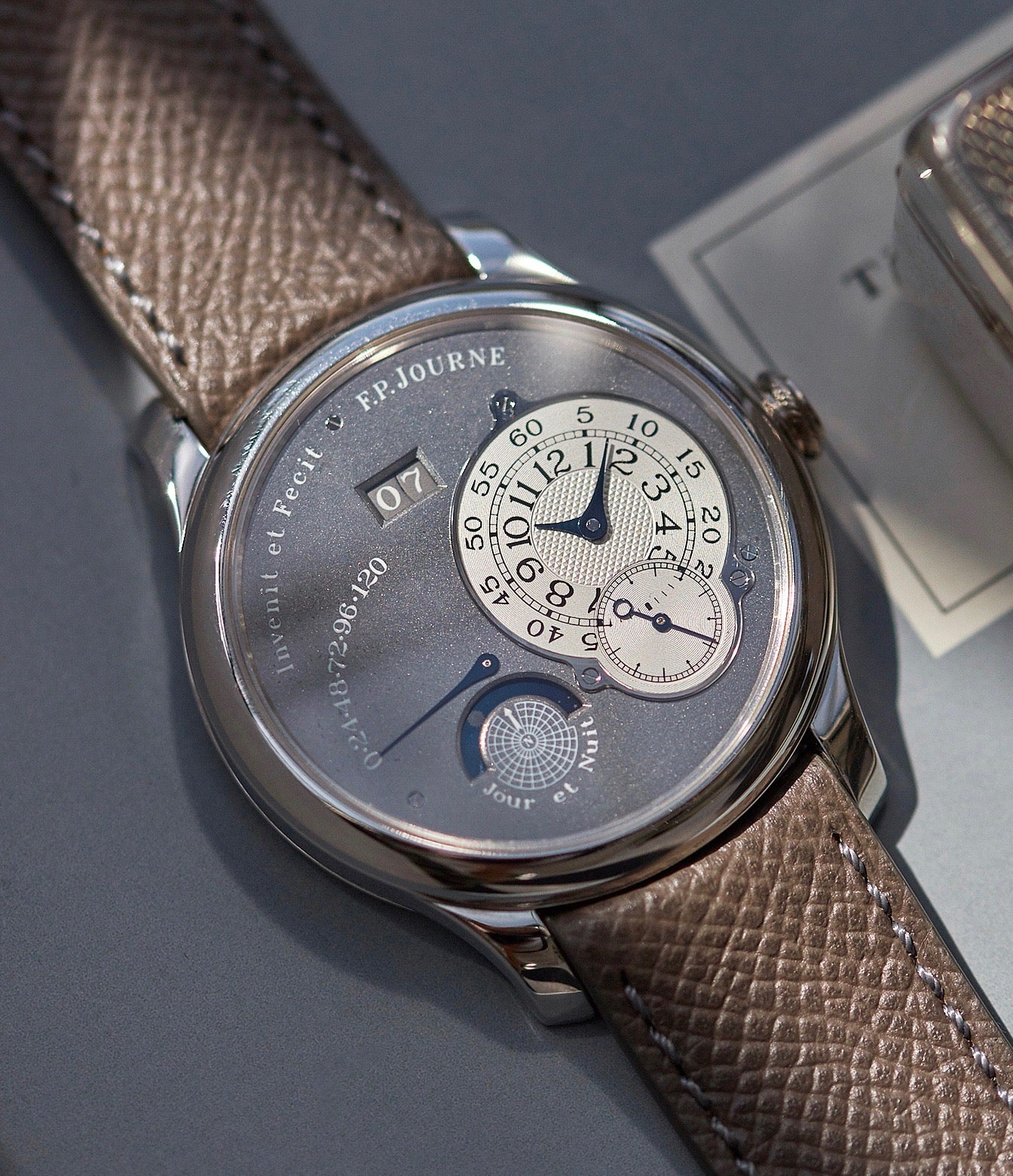 F.P. Journe Octa Reserve de Marche Jour et Nuit Ruthenium shot by A Collected Man London