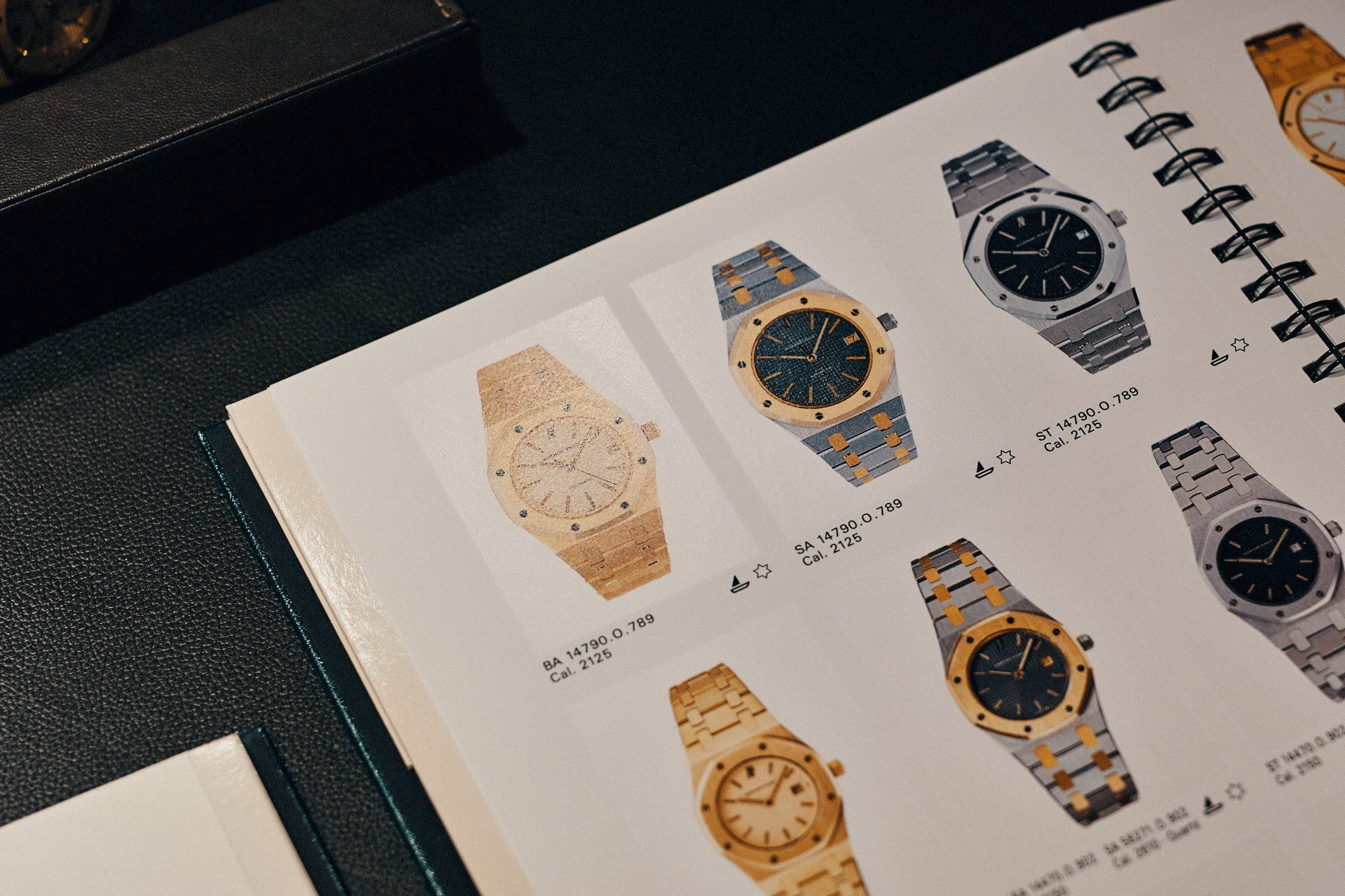 Audemars Piguet Royal Oak 14790 archives catalogue showing variations of the watch for A Collected Man London