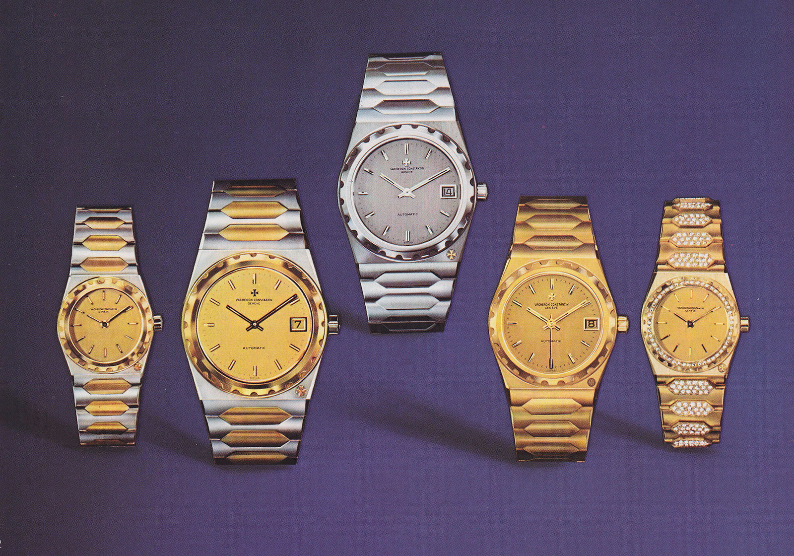 Vacheron Constantin 222 original family including all three sizes and two tone models for A Collected Man London