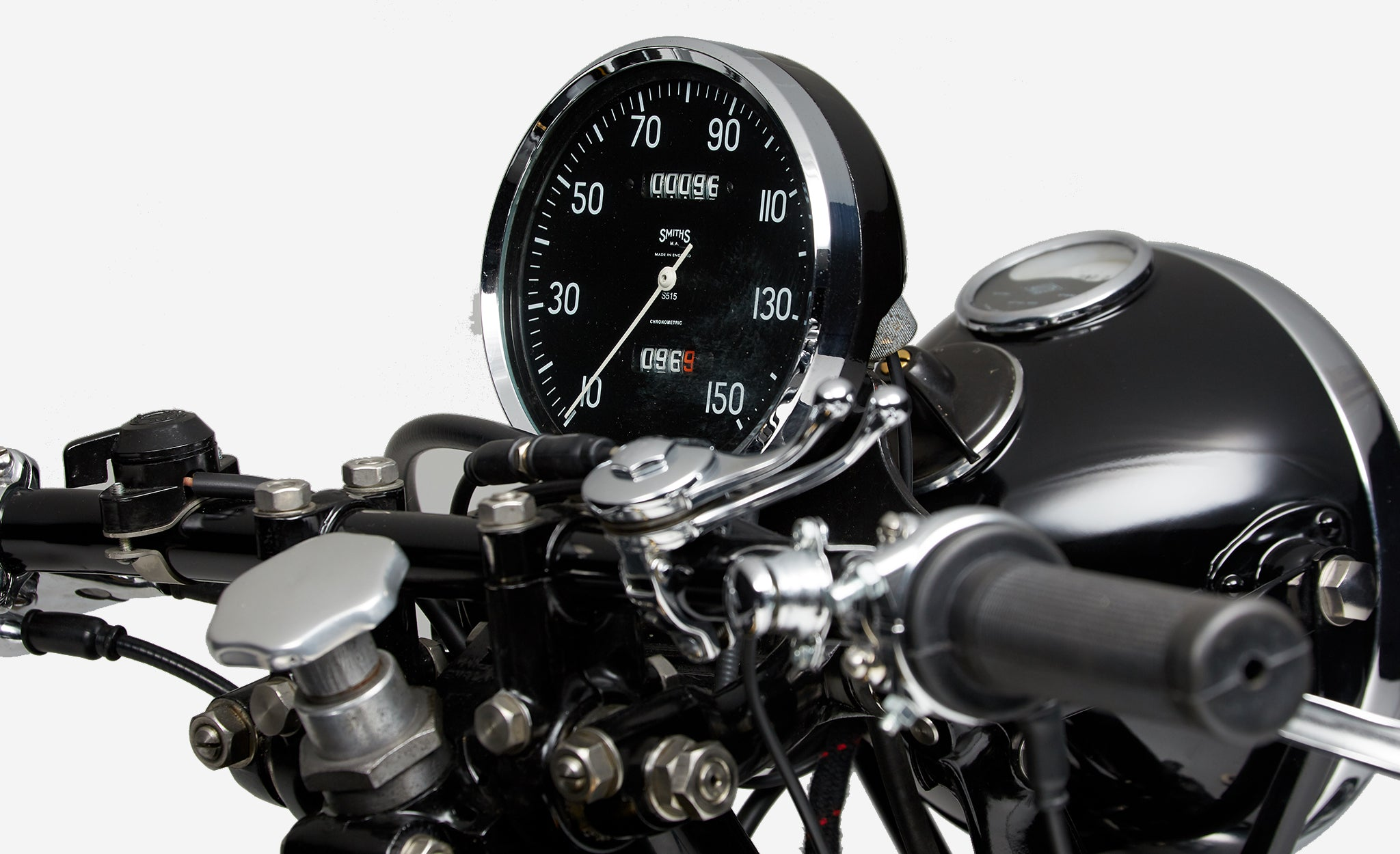 Vincent Black Shadow motorbike speedometer