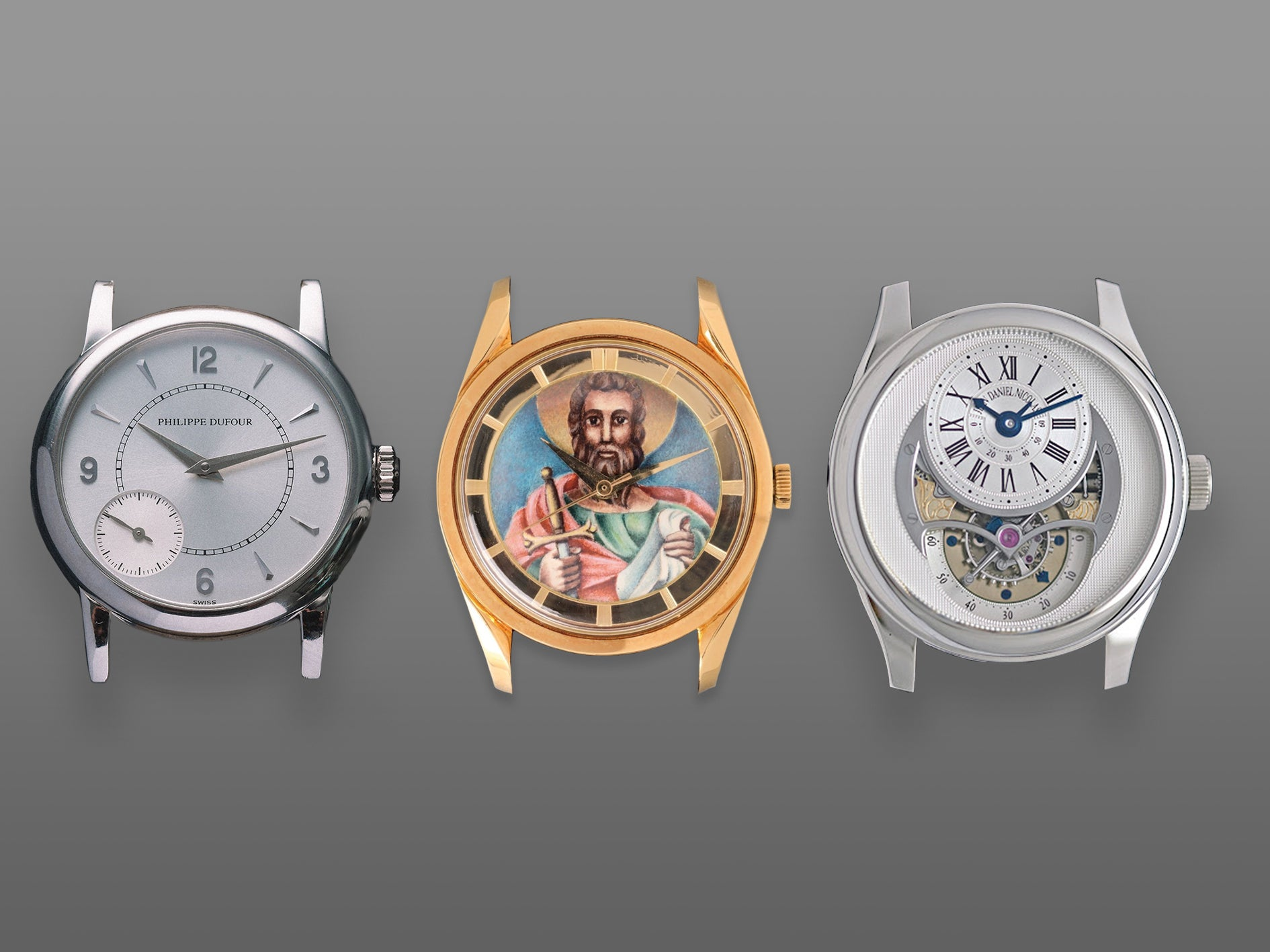 Philippe Dufour Duality Universal Geneve Polerouter and Jean Daniel Nicolas two minute tourbillon