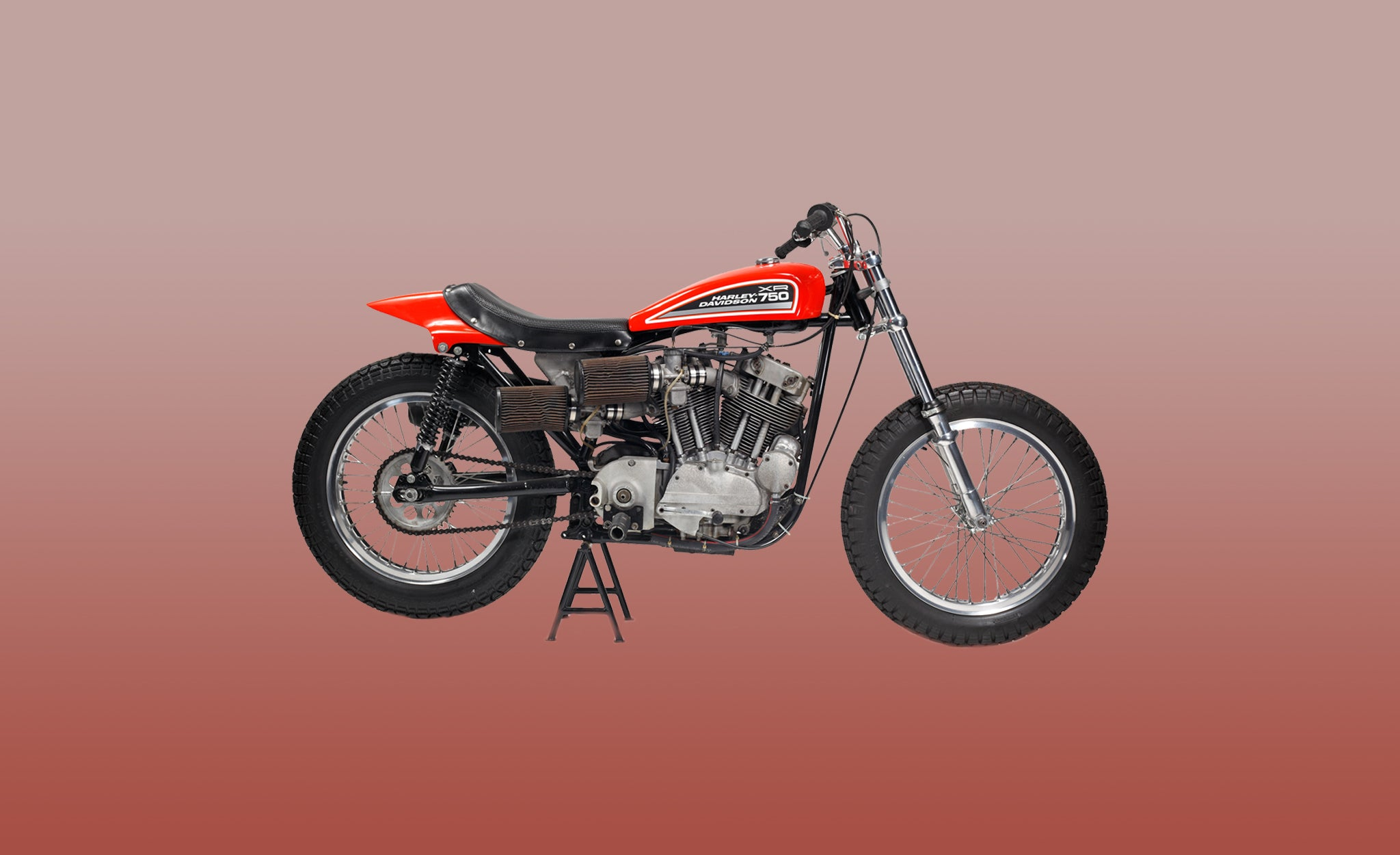 Harley Davidson XR750 motorbike in red
