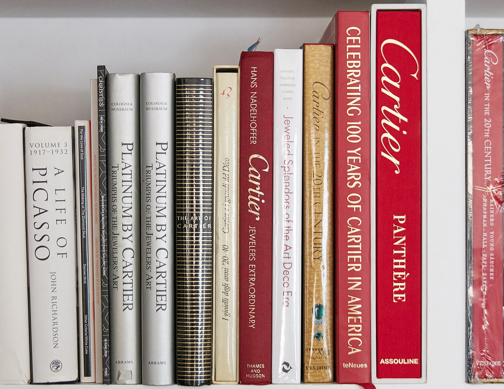 Cartier watch bookshelf from Harry Fane's house shot during an interview with A Collected Man Lonodn