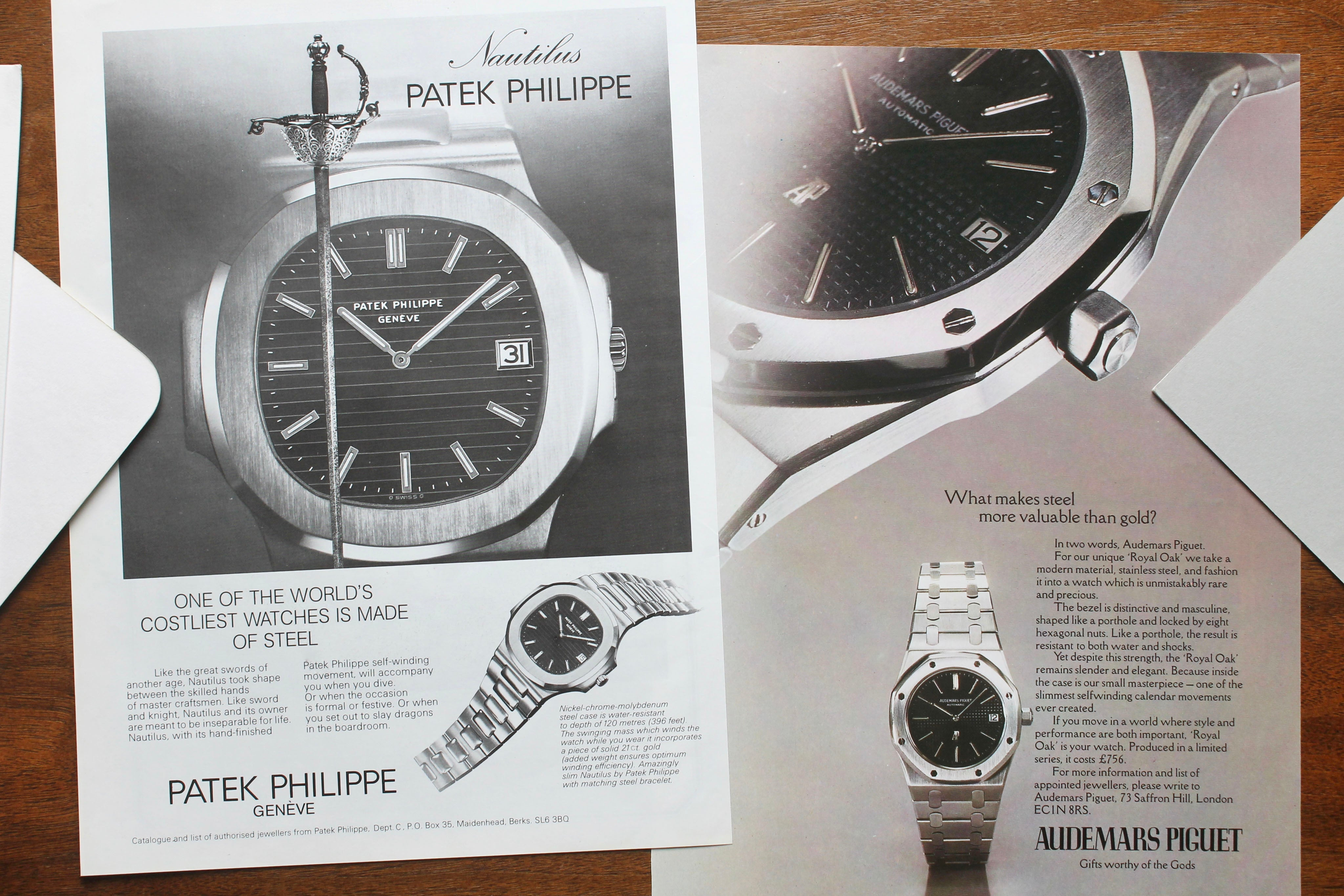 Patek Philippe QP advert in How Have Watches Been Advertised Over Time? for A Collected Man London