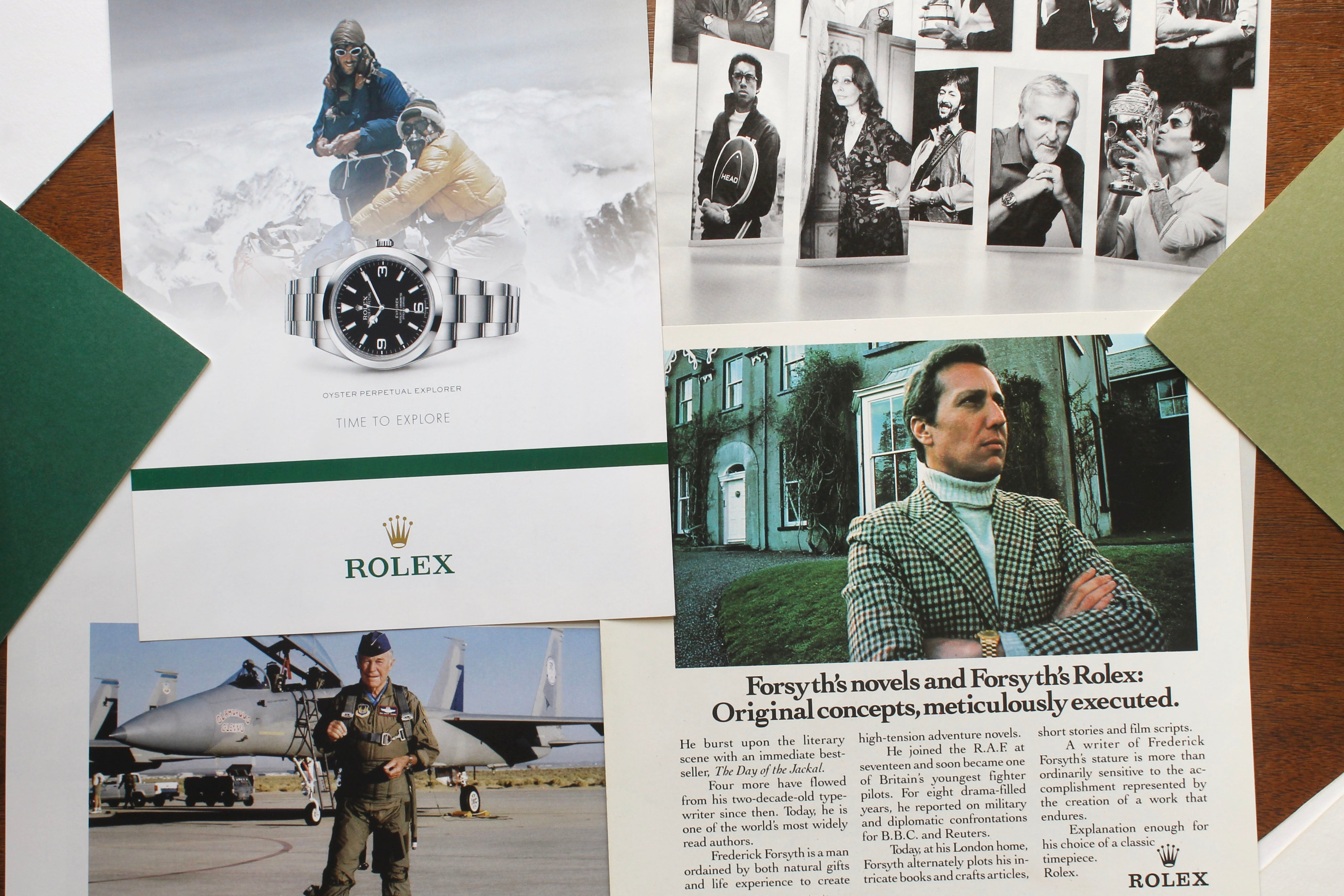 Rolex adverts in How Have Watches Been Advertised Over Time? for A Collected Man London