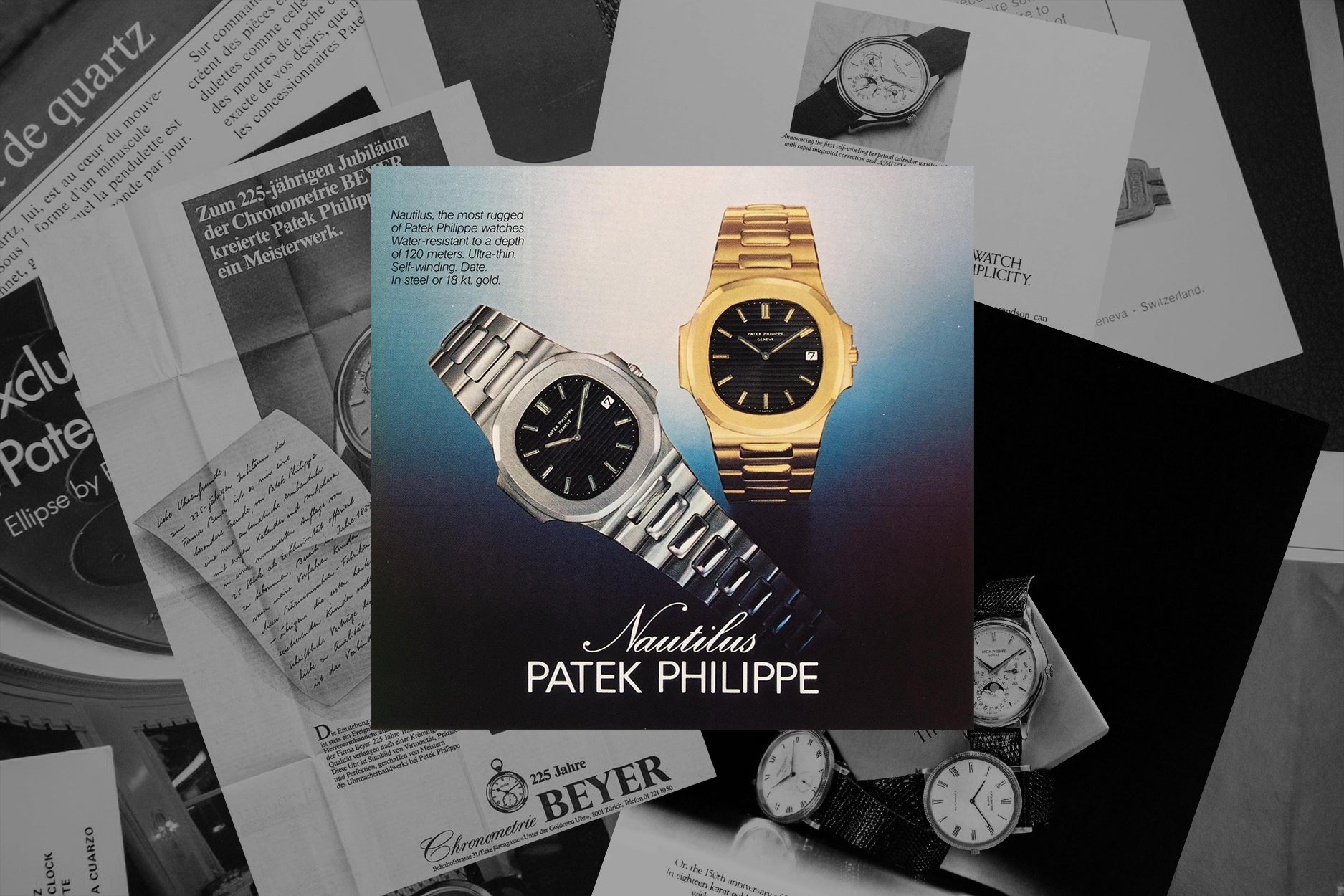 Patek Philippe Nautilus advertisement in watch advertisement history A Collected Man London