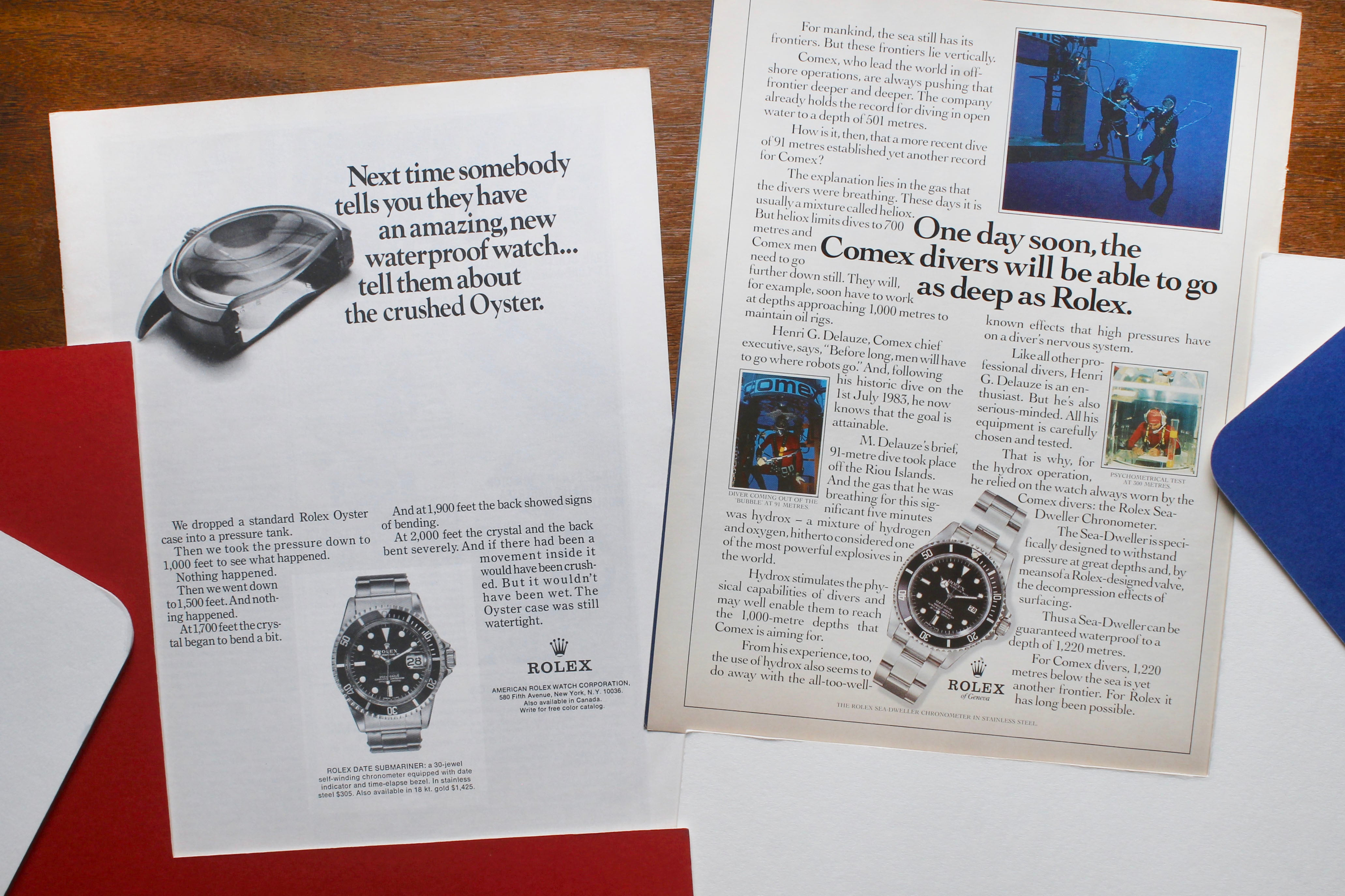 Rolex divers adverts in How Have Watches Been Advertised Over Time? for A Collected Man London