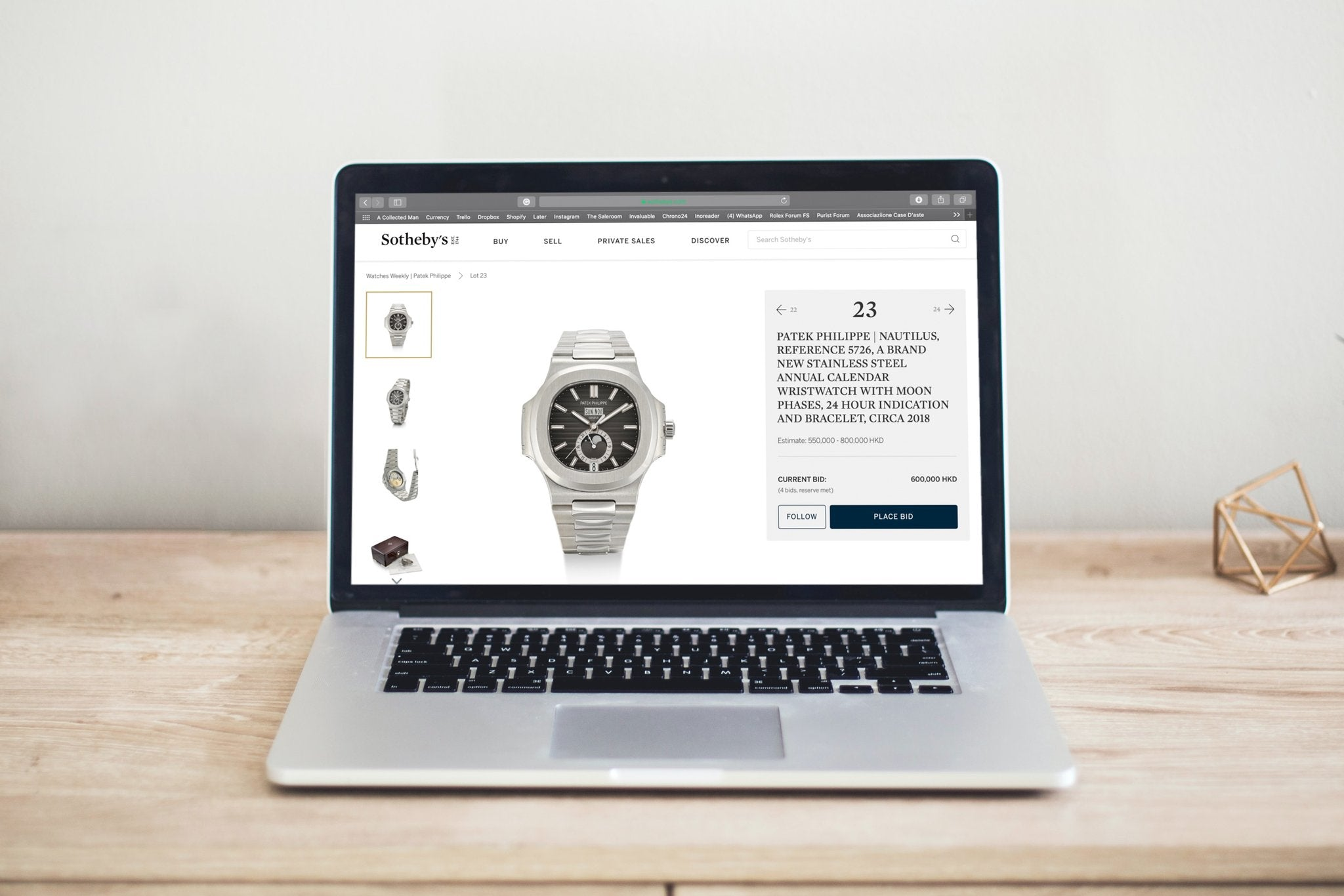Online watch auction by Sotheby's watchmaking in times of crisis for A Collected Man London