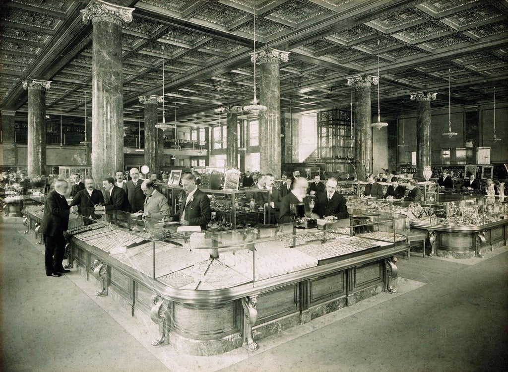 Tiffany & Co store between 1905 and 1940 watchmaking in times ofr crisis for A Collected Man London