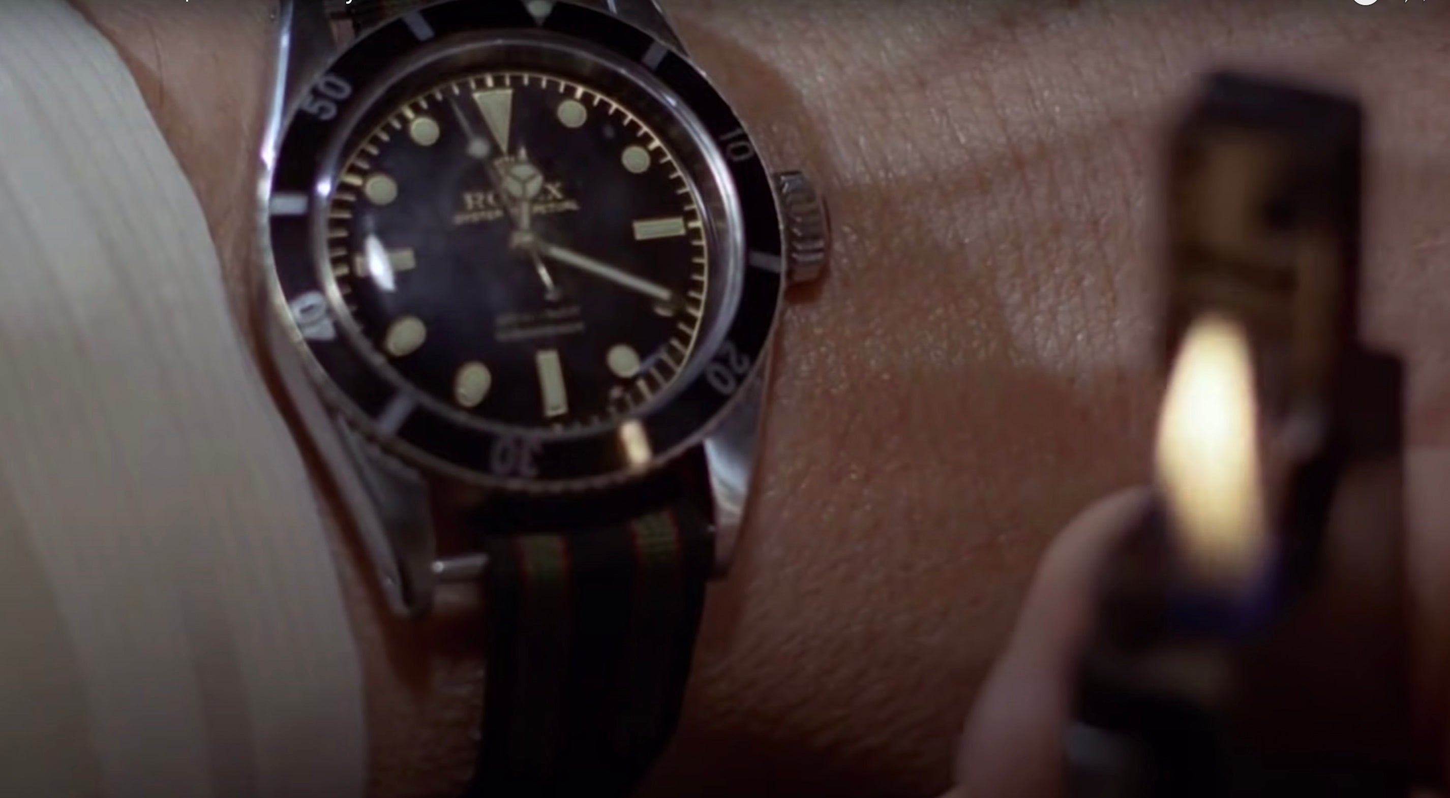 Rolex Submariner Big Crown on James Bond's wrist in Dr. No for A Collected Man London