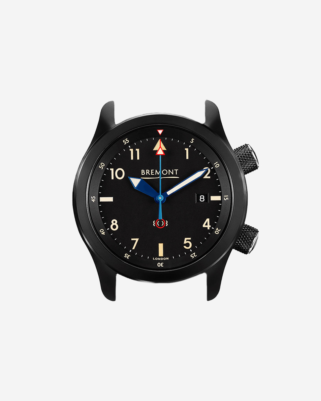 Bremont U-2/51-JET all black wristwatch double crown for A Collected Man London