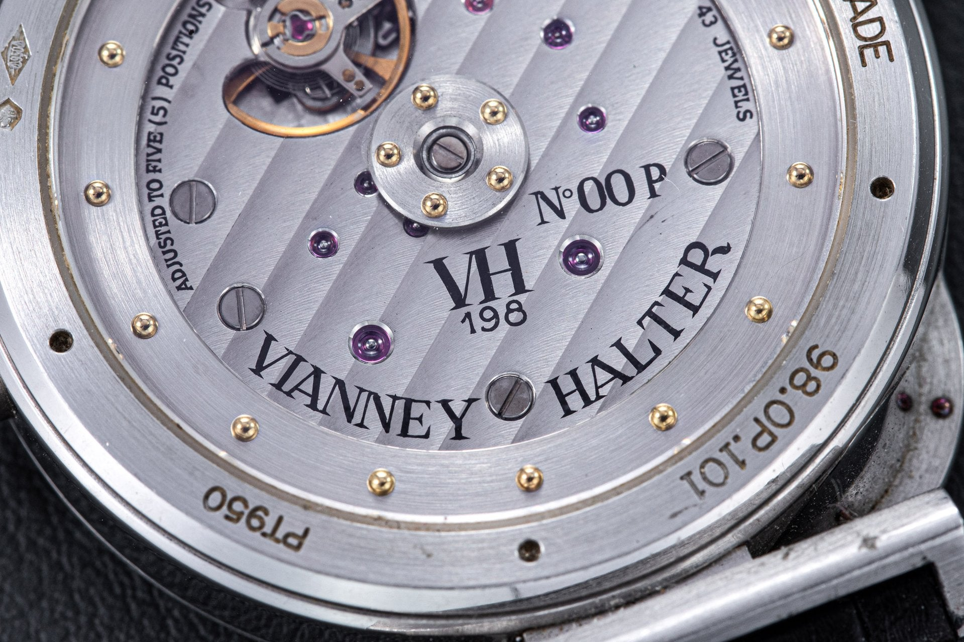Vianney Halter Antiqua 00 Platinum in Watchmakers Look Back on the First Watch They Made for A Collected Man London
