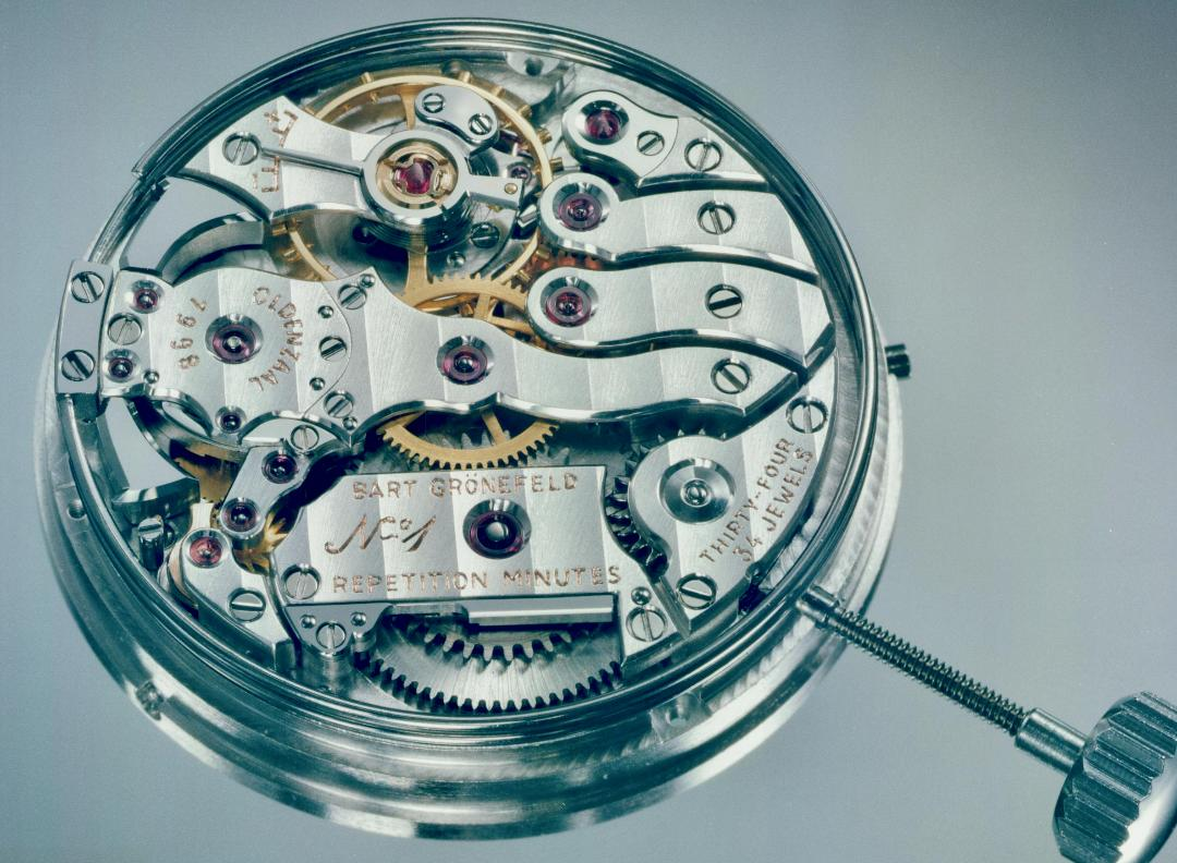 Bart Grönefeld's minute repeater movement in Watchmakers Look Back on the First Watch They Made for A Collected Man London