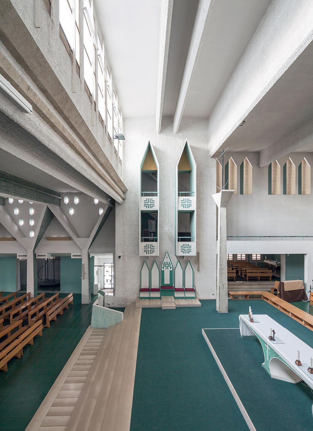 Gio Ponti interior design inside Concattedrale Gran Madre di Dio in The Eclectic Life and Work of Gio Ponti for A Collected Man London