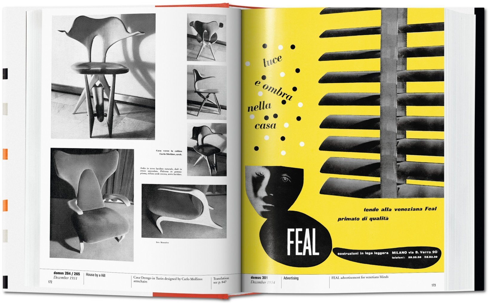 Carlo Mollino Domus magazine spread in The Eclectic Life and Work of Gio Ponti for A Collected Man London