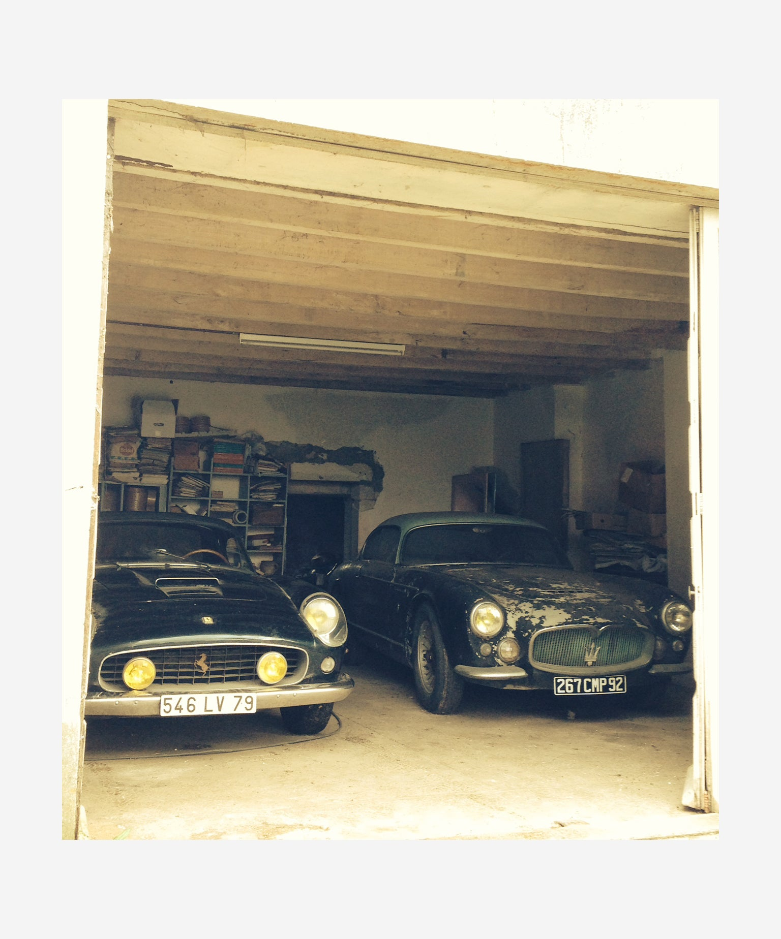 Ferrari Spider and Maserati found as part of the Baillon Collection