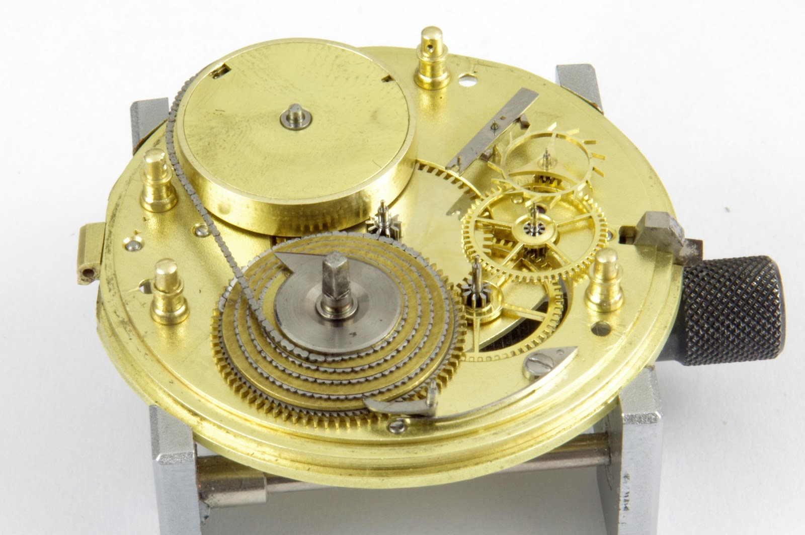Pocket watch movement with Fusee et chain in Chasing Accuracy in Mechanical Wristwatches for A Collected Man London