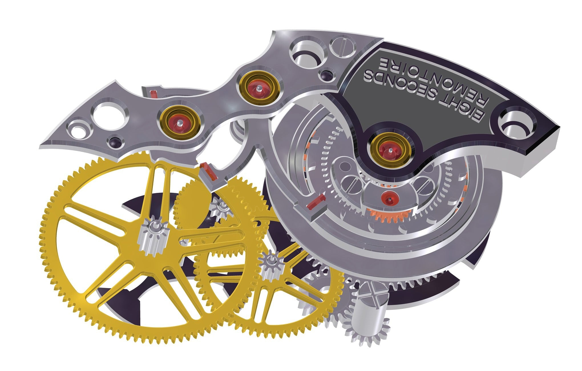 CAD render of remontoire mechanism used inside Grönefeld watches in Chasing Accuracy in Mechanical Wristwatches for A Collected Man London