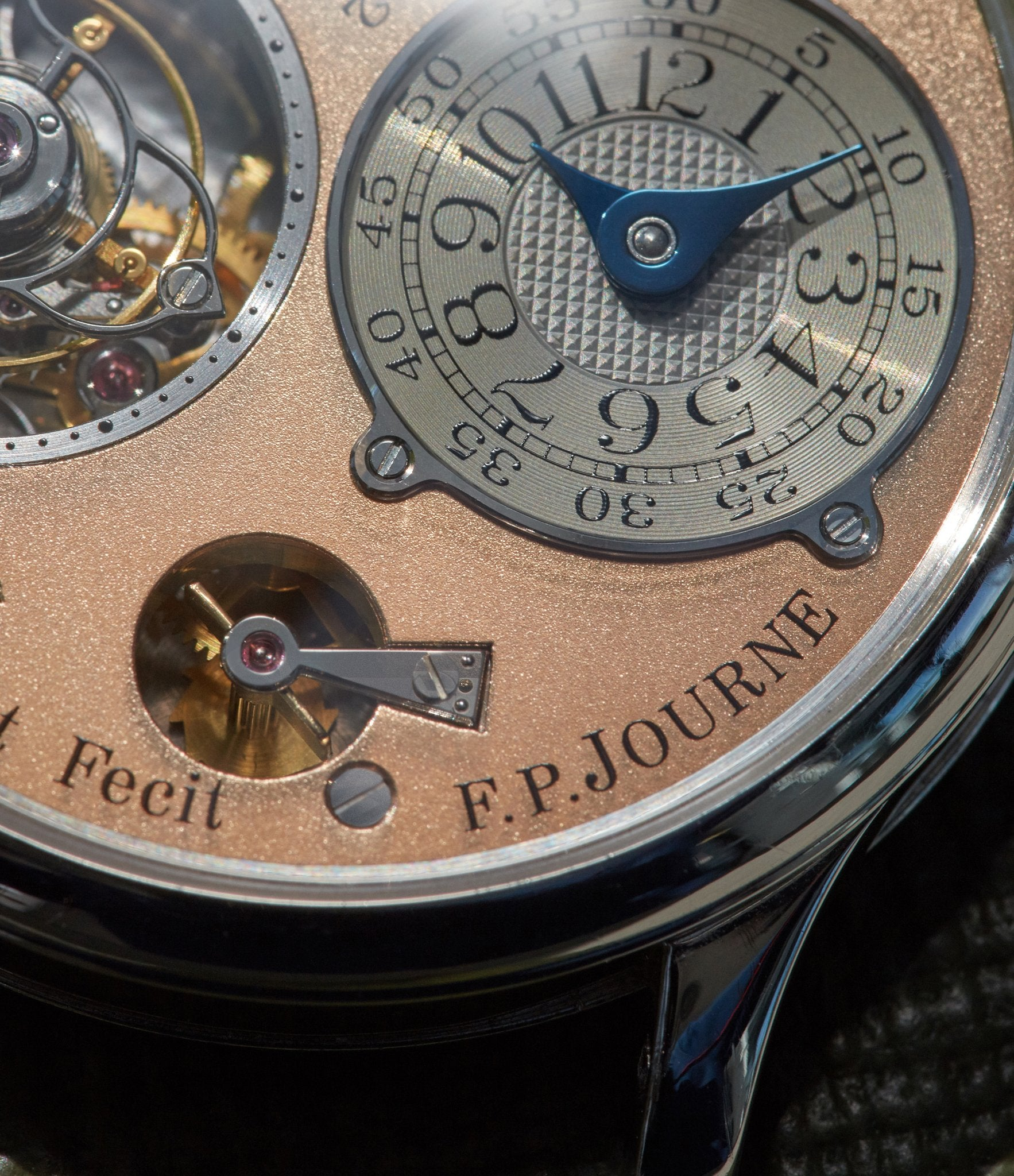 F.P. Journe Tourbillon remontoire macro in Chasing Accuracy in Mechanical Wristwatches for A Collected Man London