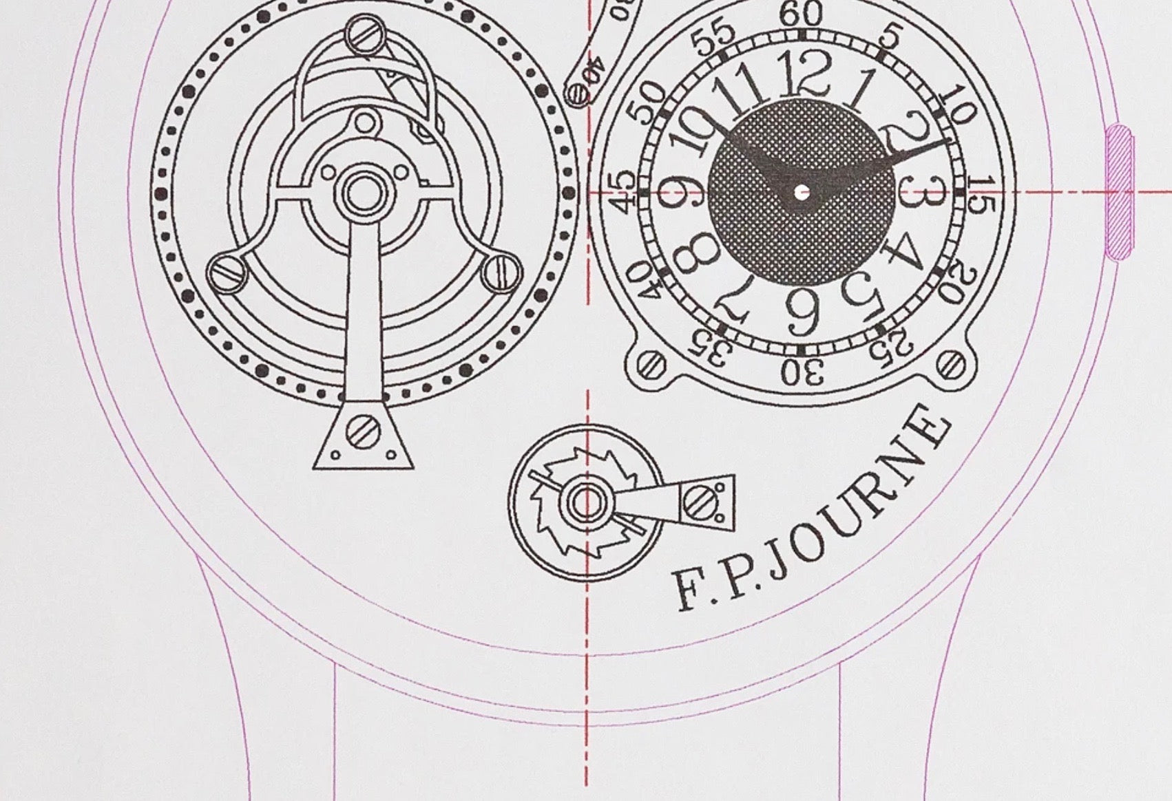 Journe technical drawing of remontoire in Chasing Accuracy in Mechanical Wristwatches for A Collected Man London