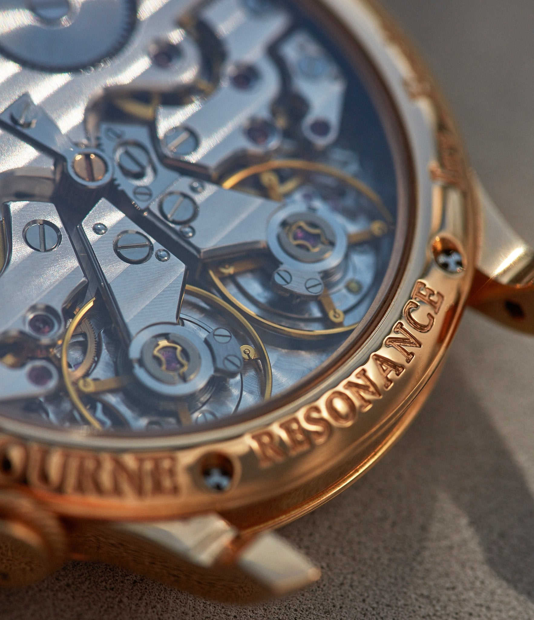 Movement shots of F.P. Journe in Chasing Accuracy in Mechanical Wristwatches for A Collected Man London