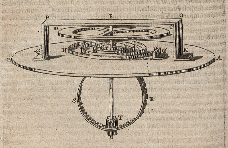 Christiaan Huygens' drawing of balance spring and wheel in Chasing Accuracy in Mechanical Wristwatches for A Collected Man London