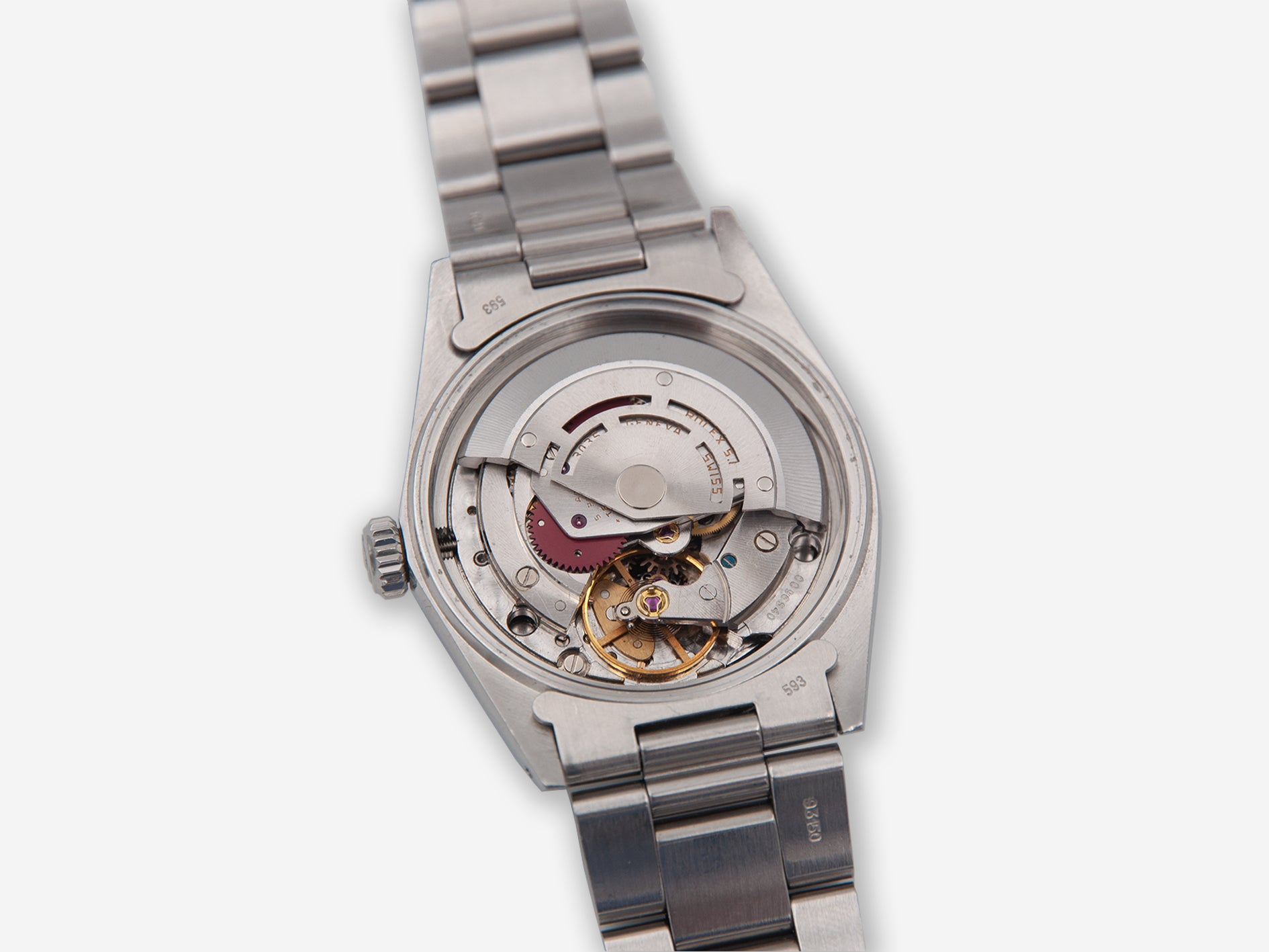 George Daniels modified Rolex 3035 with co-axial movement