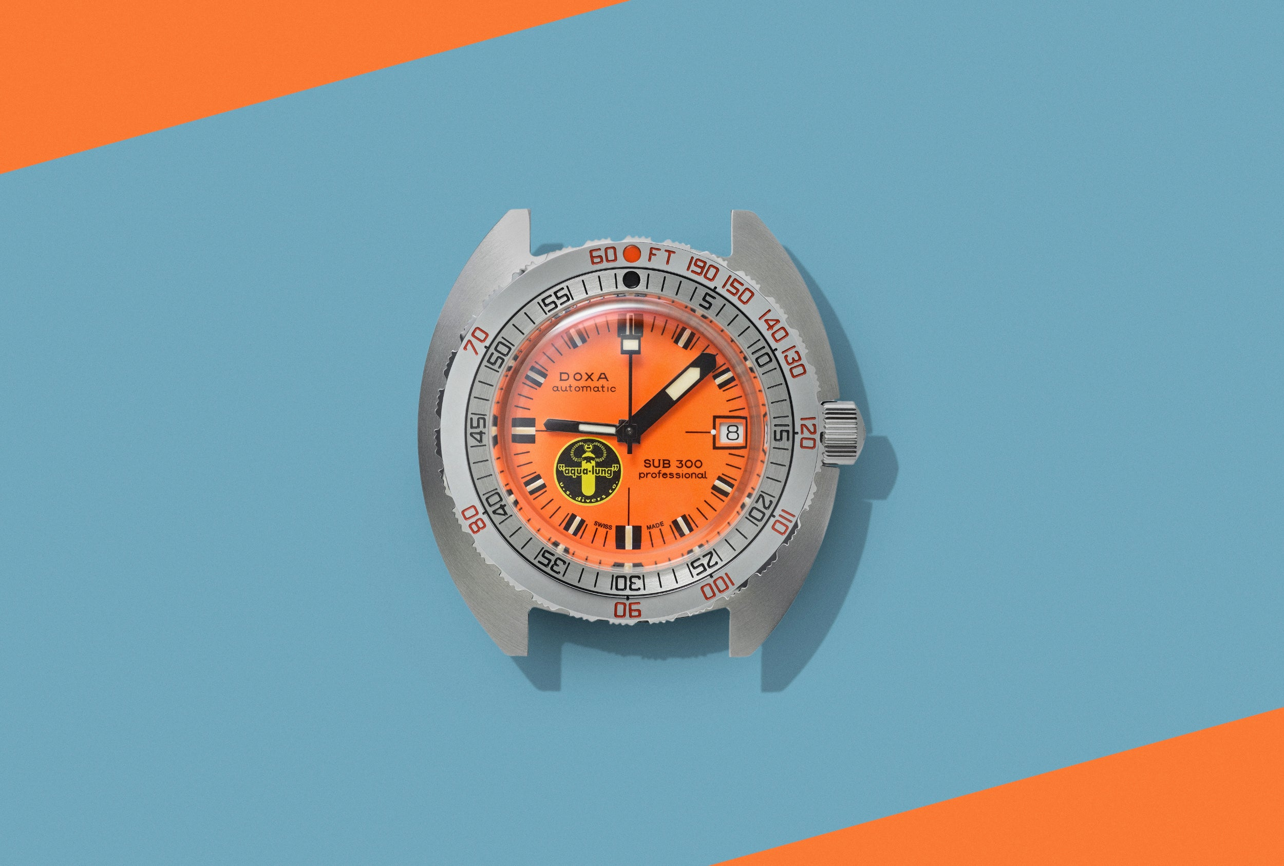 Doxa SUB 300 orange dial in The Colourful World of Vintage Watches for A Collected Man London